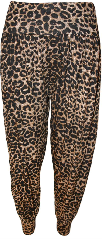 Neu-Frauen-Plus-Size-Leopard-Print-Maxi-Swing-