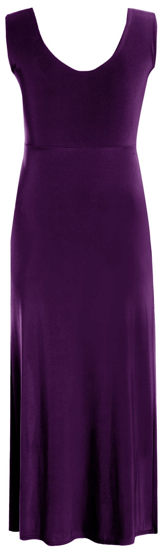 New-Ladies-Plus-Size-Twist-Knot-Panel-Long-Evening-Maxi-Dress