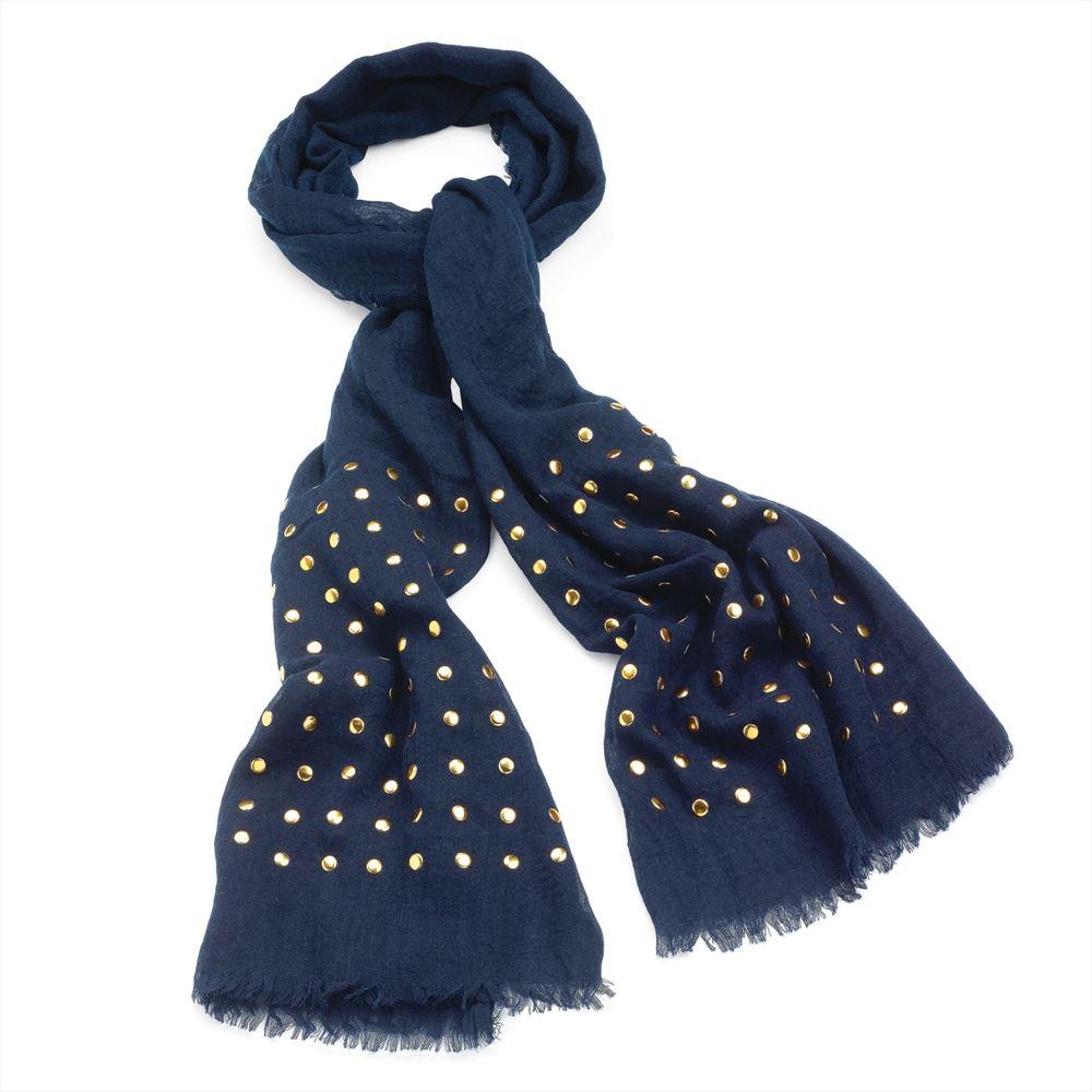 new neck warp scarves designer gold studs