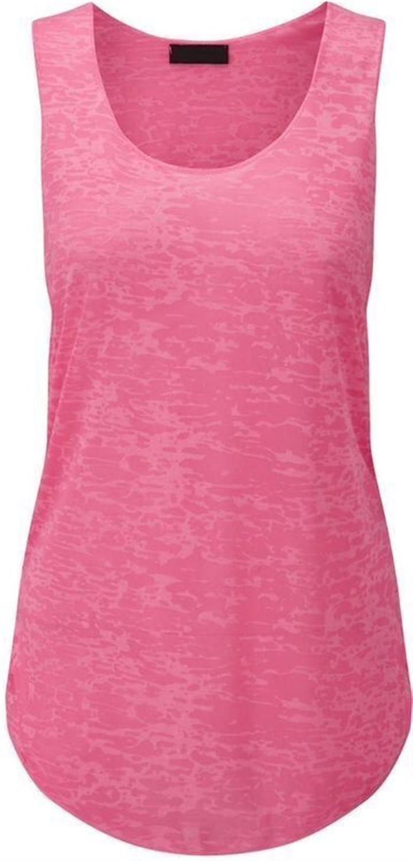 New Ladies Plus Size Graphic Burn Out Vest Tops 8-22