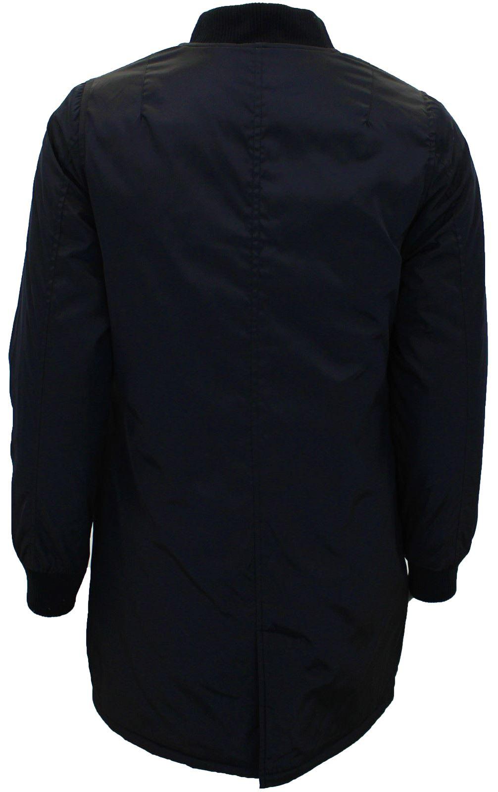 New Ladies Baseball Varsity Collar Zipped Long Bomber Jacket Coat 8-16
