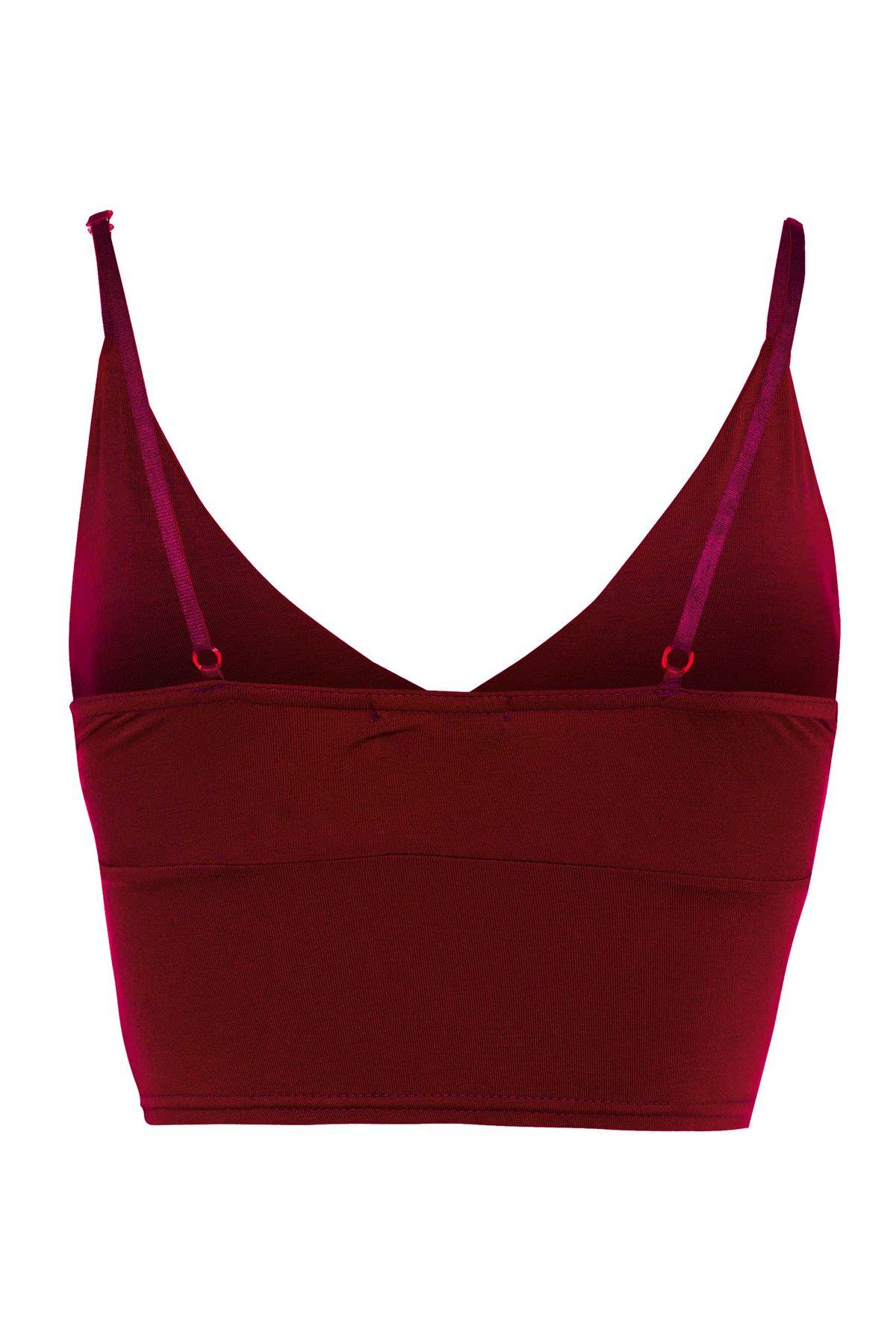 New Ladies Strappy Mini Bralet Crop Bra Vest Tops 8-14