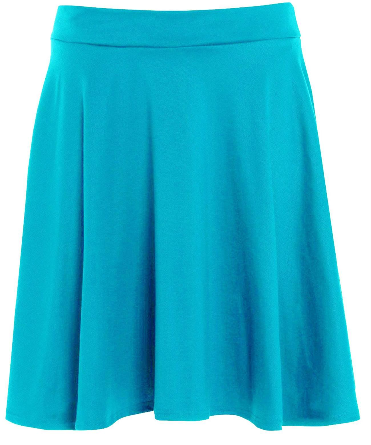 New Womens Plus Size Flared Skater Party Skirts 14-28