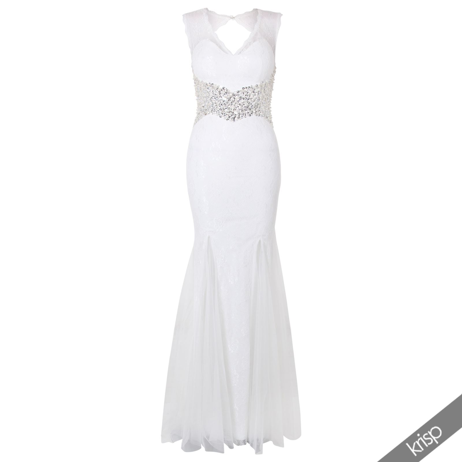 womens lace evening gown sequin beaded maxi chiffon empire