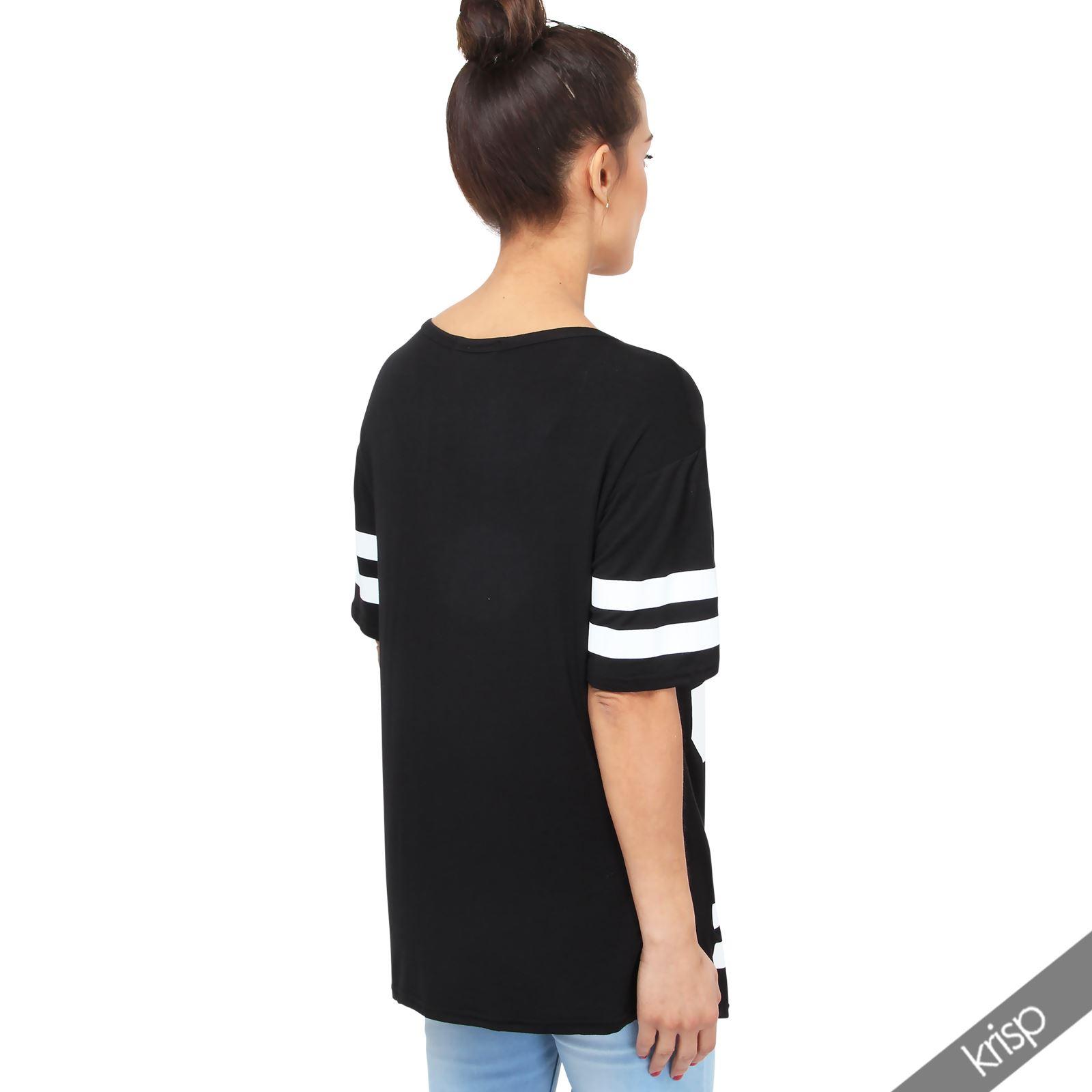 damen t shirt nummer 93 oversize baseball top american college top plus size ebay. Black Bedroom Furniture Sets. Home Design Ideas