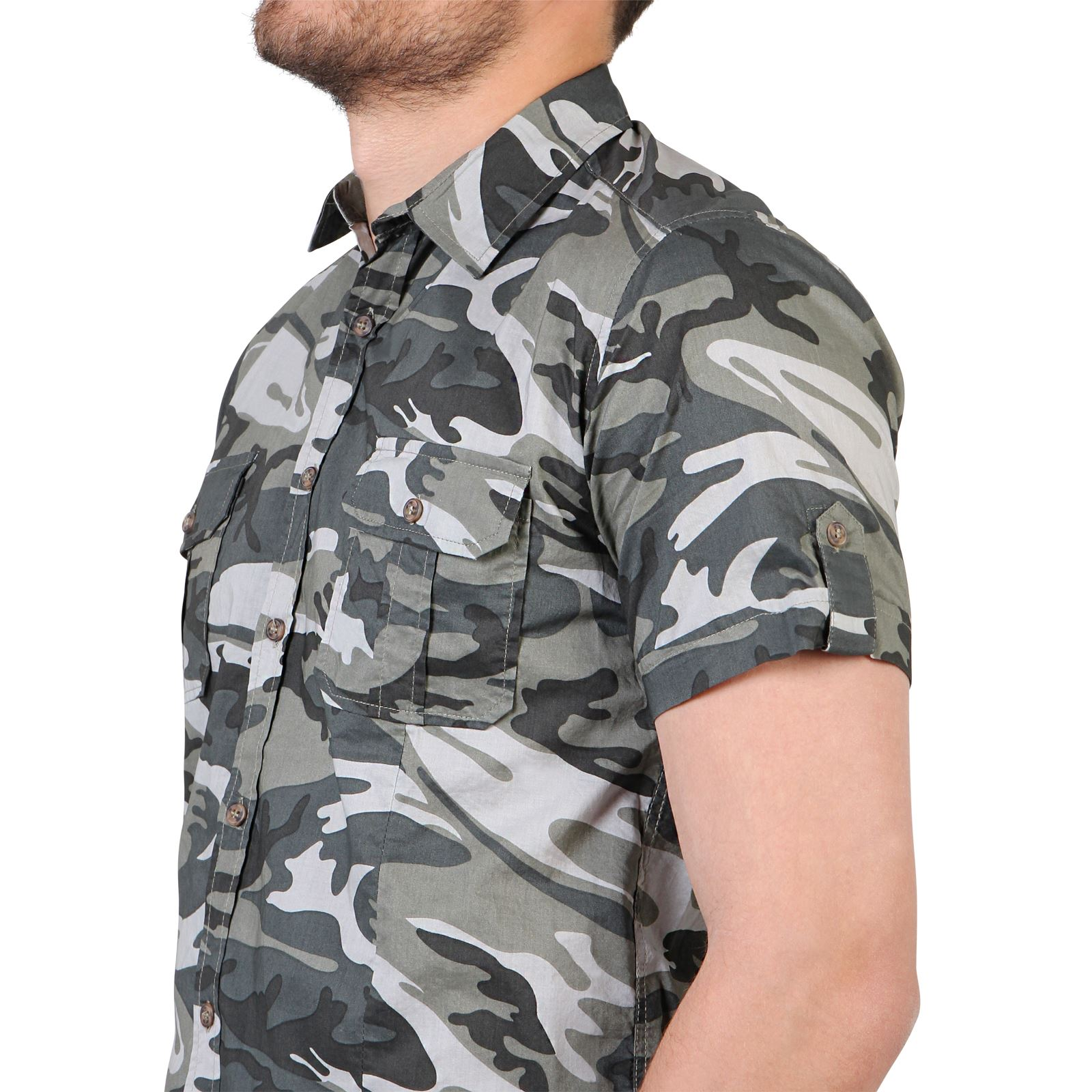 herren camouflage tarnfarben combat kurzarm sommer hemd baumwolle s m l xl xxl ebay. Black Bedroom Furniture Sets. Home Design Ideas