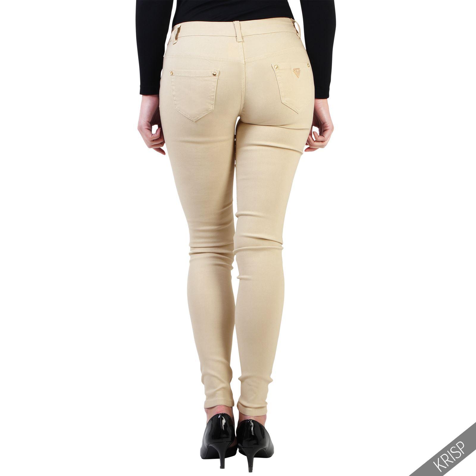 damen stretch skinny fit jeans jeggings leggings enge figurbetonende hose ebay. Black Bedroom Furniture Sets. Home Design Ideas