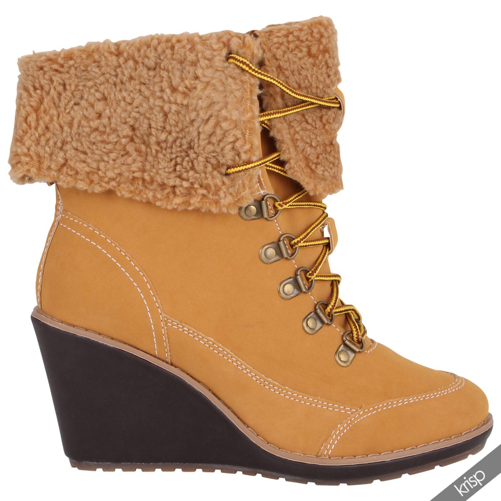 femmes bottine chaussure talon hauts epais caoutchouc militaire combat ebay. Black Bedroom Furniture Sets. Home Design Ideas