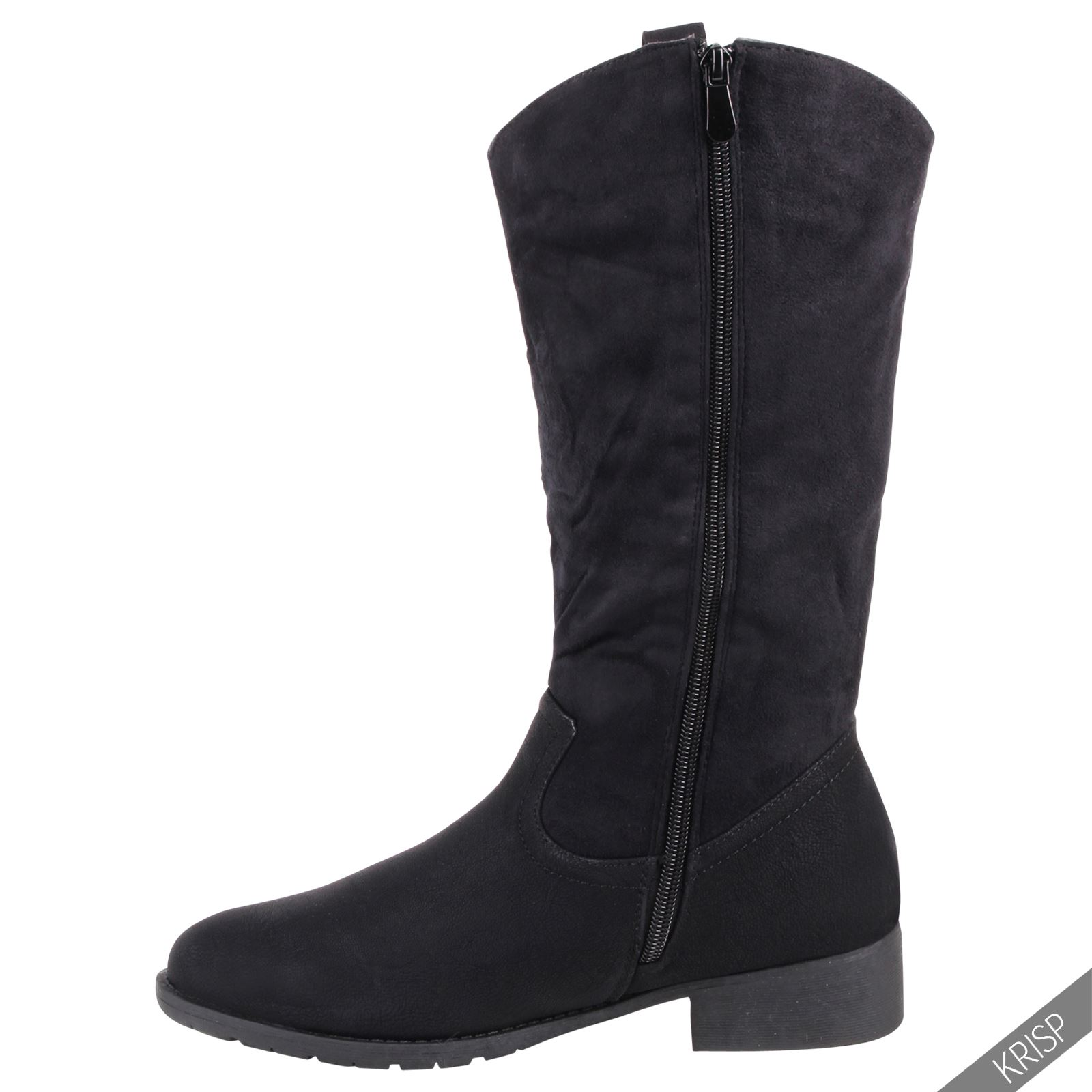womens cowboy mid calf winter boots slouch