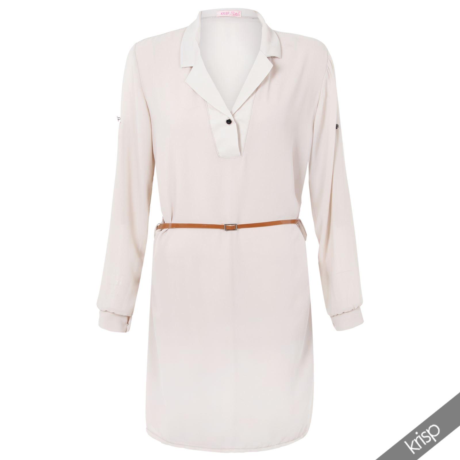 damen oversize chiffon bluse mit g rtel top tunika minikleid longshirt hemd lang ebay. Black Bedroom Furniture Sets. Home Design Ideas