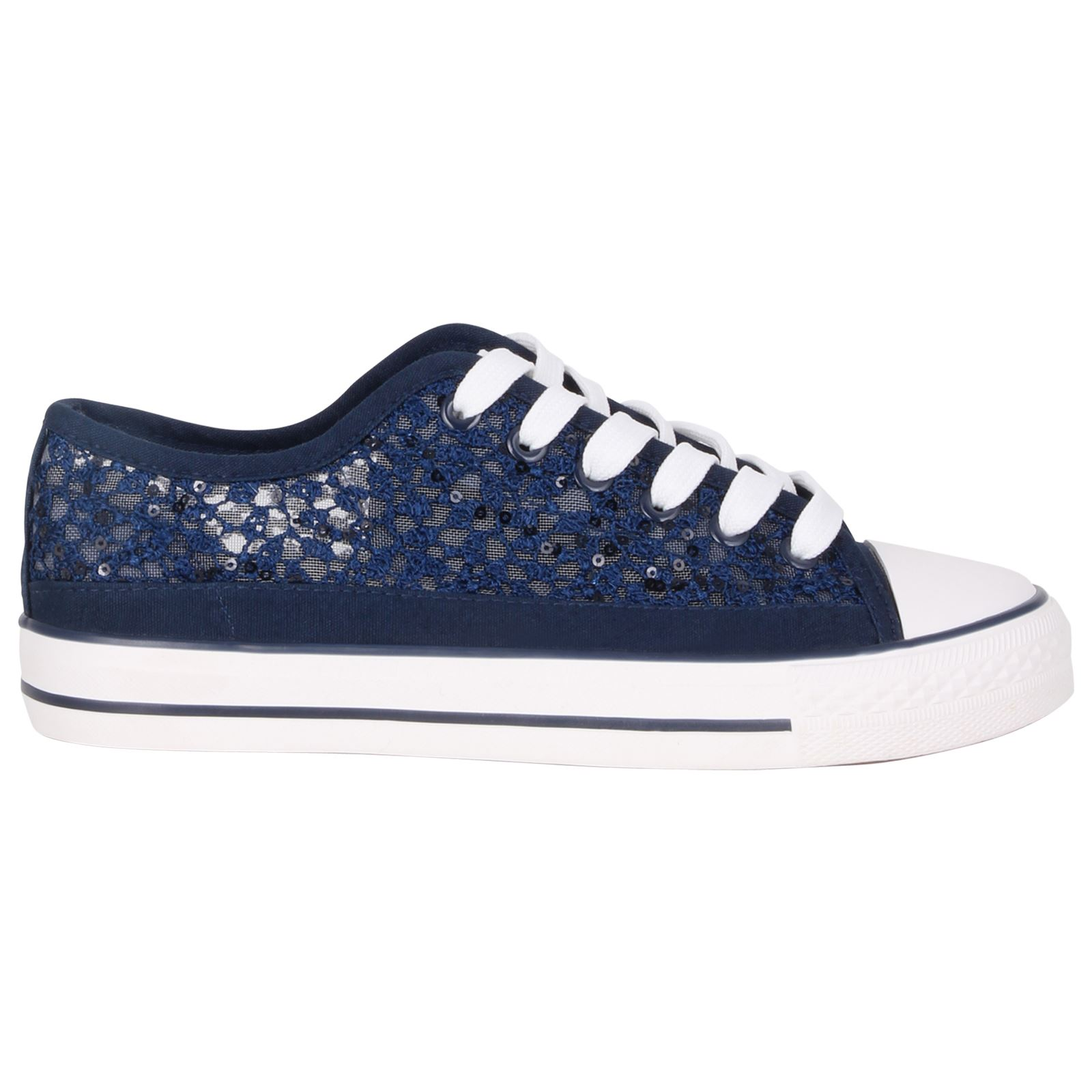 womens canvas low top lace up trainers flatform shoes