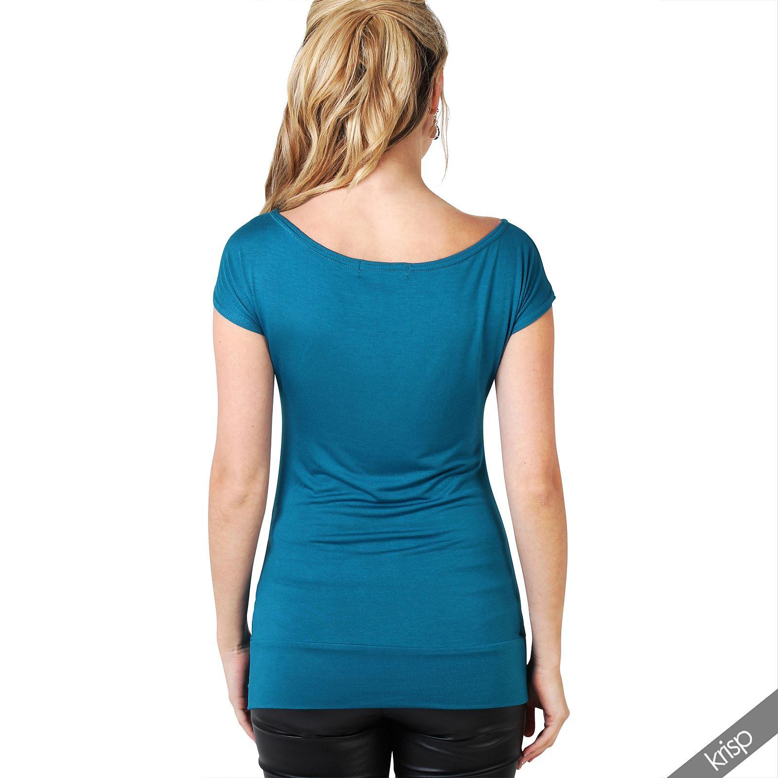 womens skull print glitter tee shirt hip length short sleeve top usa ebay. Black Bedroom Furniture Sets. Home Design Ideas