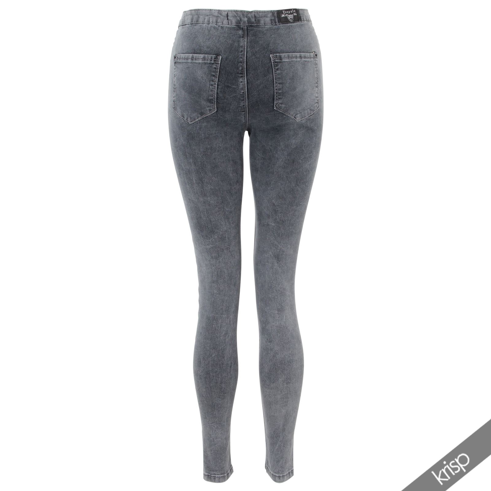 f6df31598fa5fc Slim Fit Hohe Taille Ripped Zerrissene Hosen Leggings Jeggings