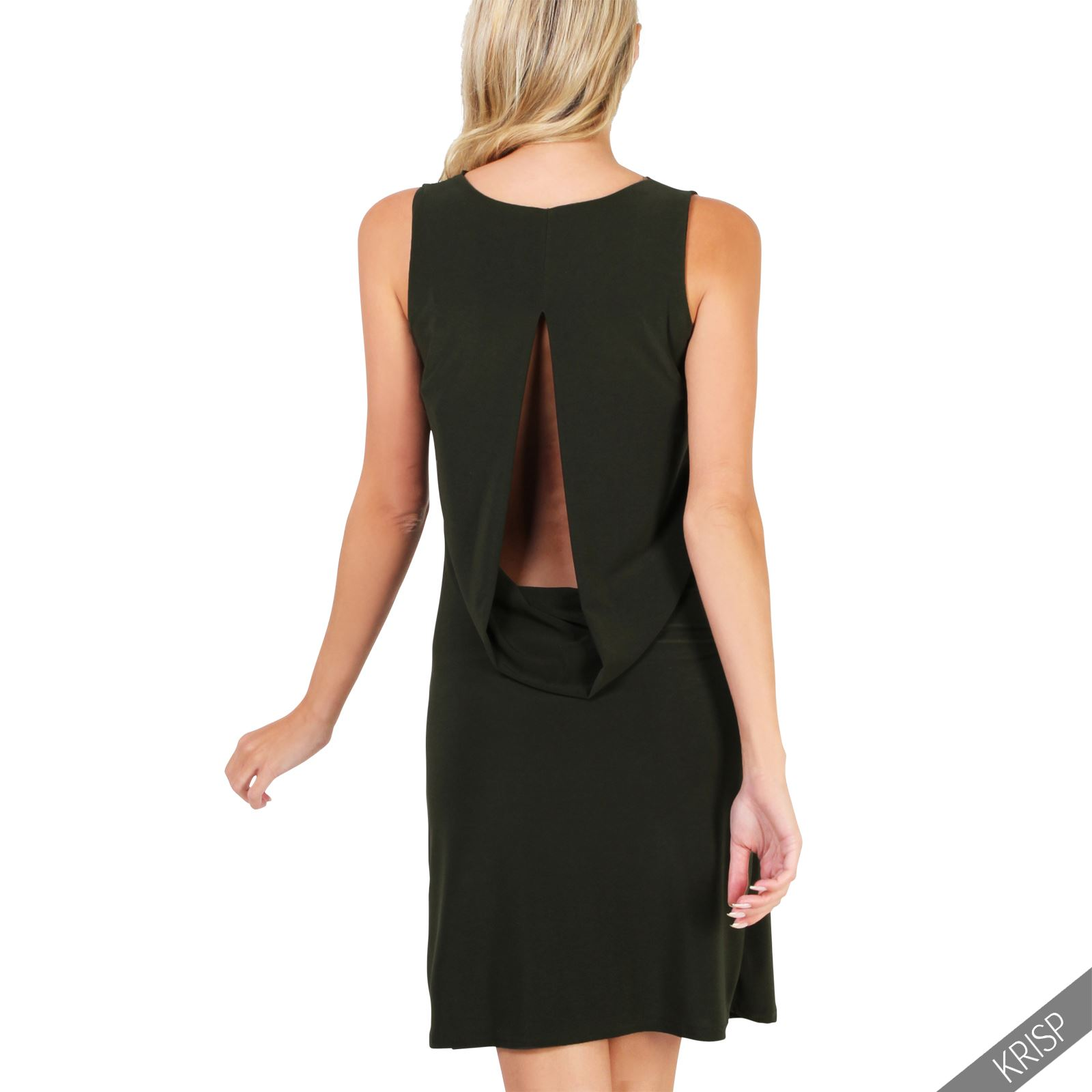 femmes robe col b nitier plongeant dos nu moulante sans manche uni mini sexy ebay. Black Bedroom Furniture Sets. Home Design Ideas