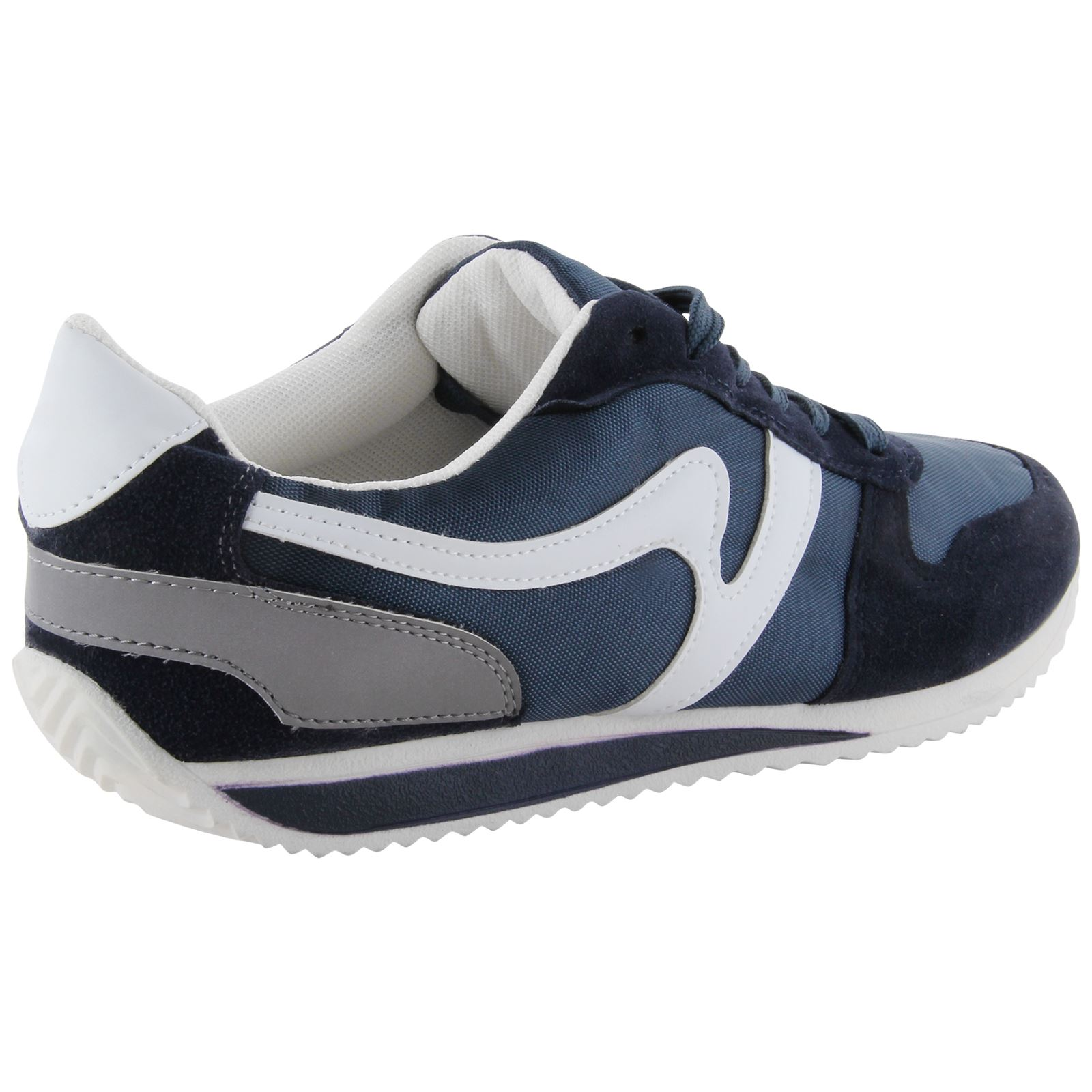 mens casual retro school fashion trainers lace up