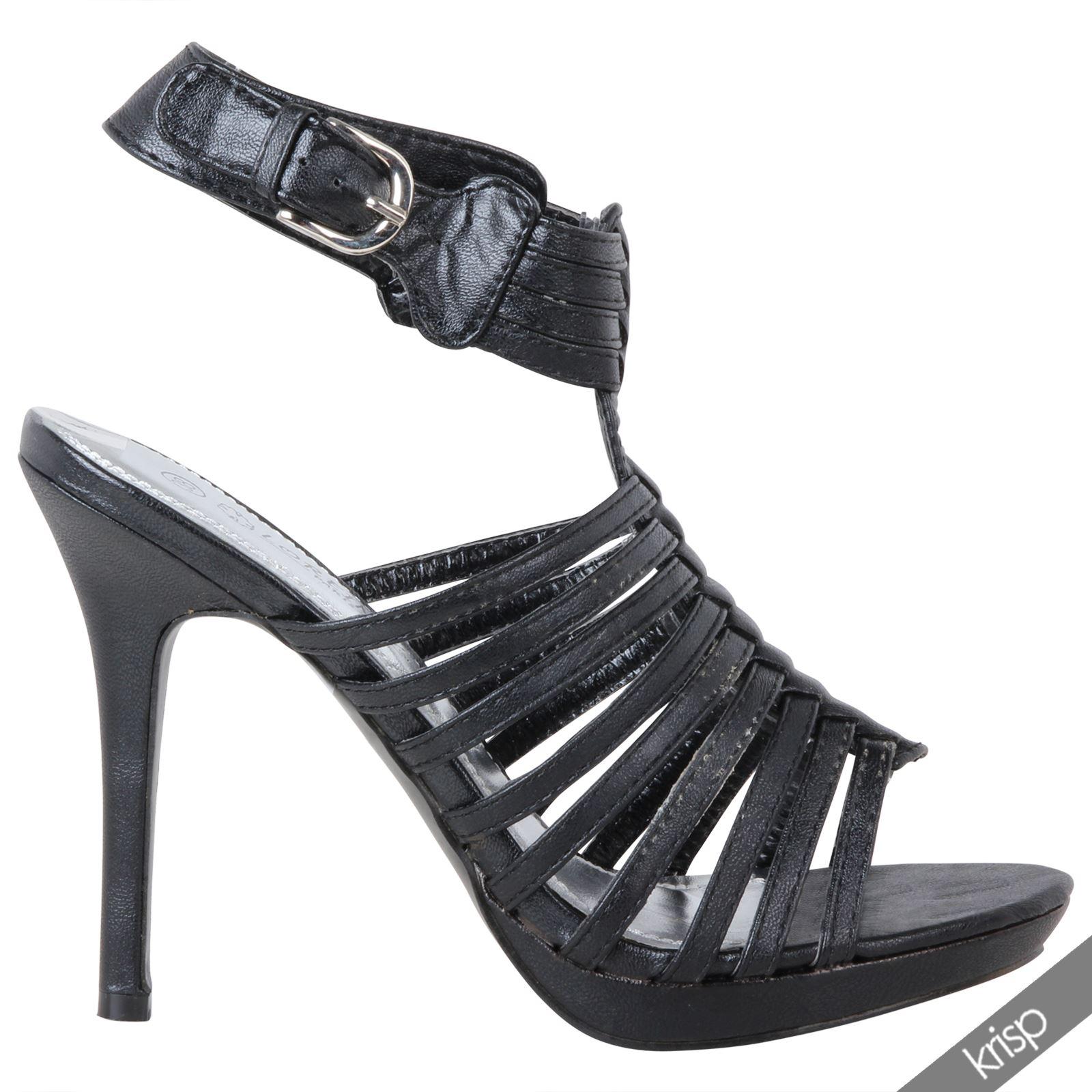 damen sandaletten riemchen high heels stilettos slingback. Black Bedroom Furniture Sets. Home Design Ideas
