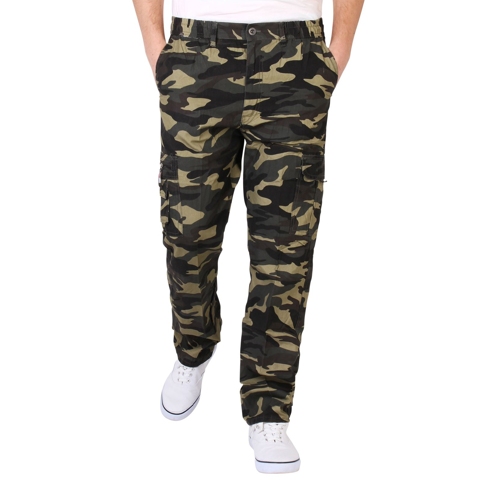 mens combat military army camouflage cargo trousers pants. Black Bedroom Furniture Sets. Home Design Ideas
