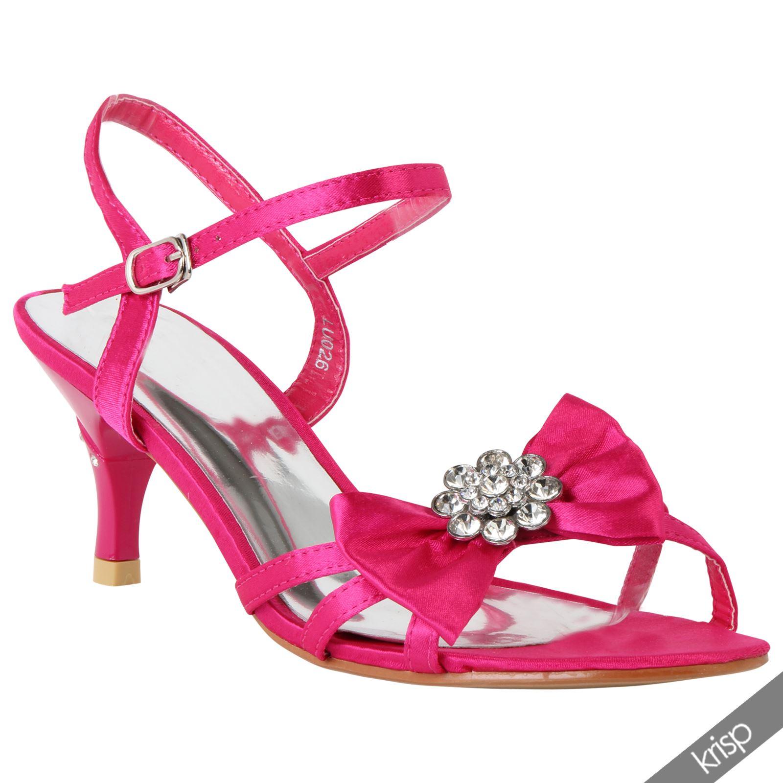 Kitten Heel Evening Sandals