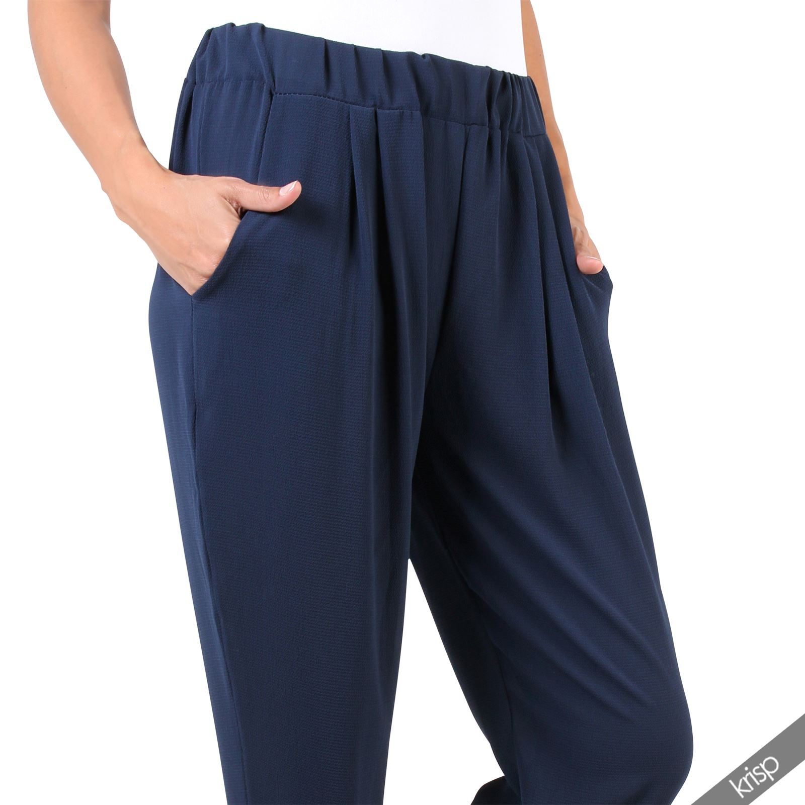 Womens Loose Formal Harem Trousers Pants Peg Cigarette Tapered Leg Party Office | EBay