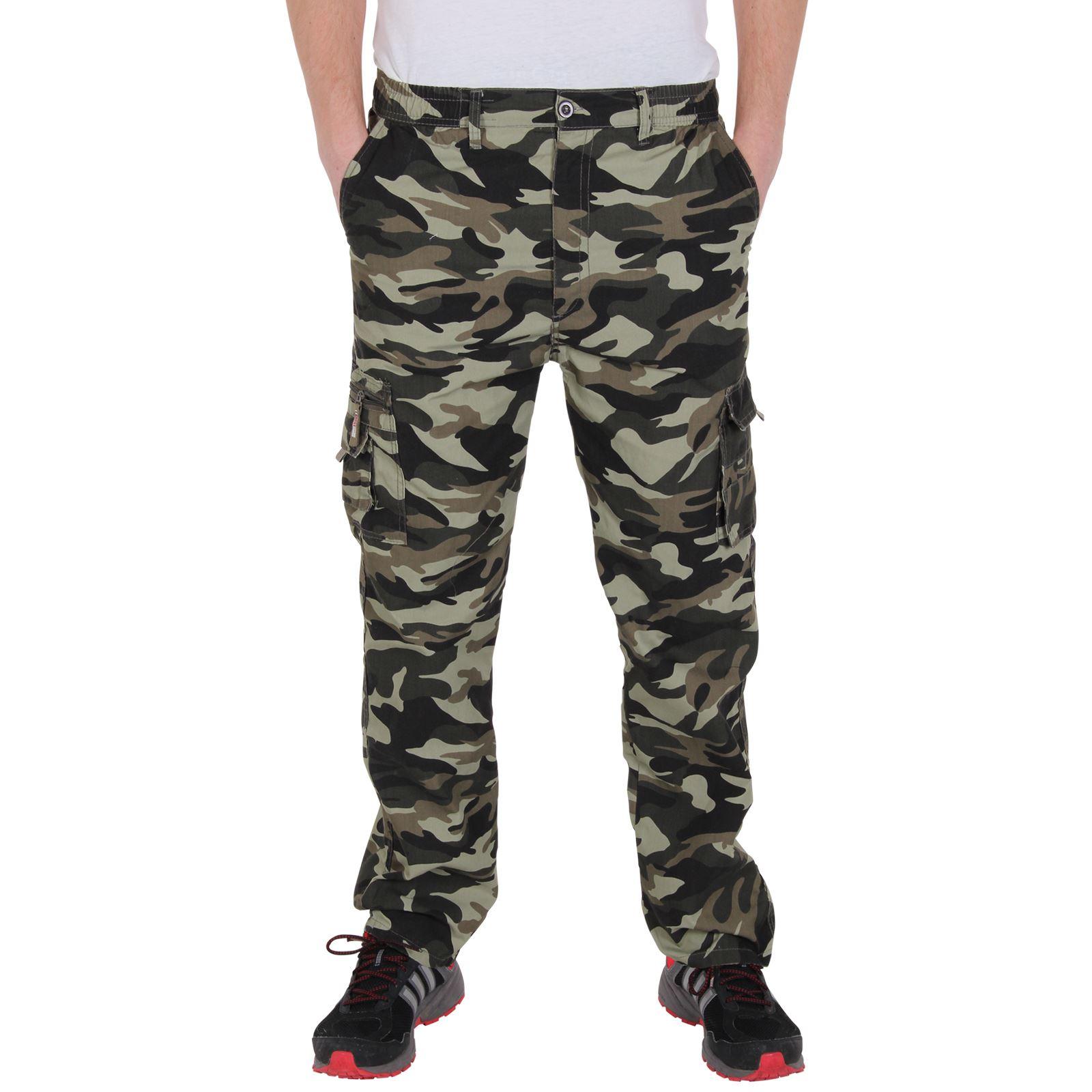 pantalon homme treillis militaire camouflage cargo arm e multi poches ebay. Black Bedroom Furniture Sets. Home Design Ideas