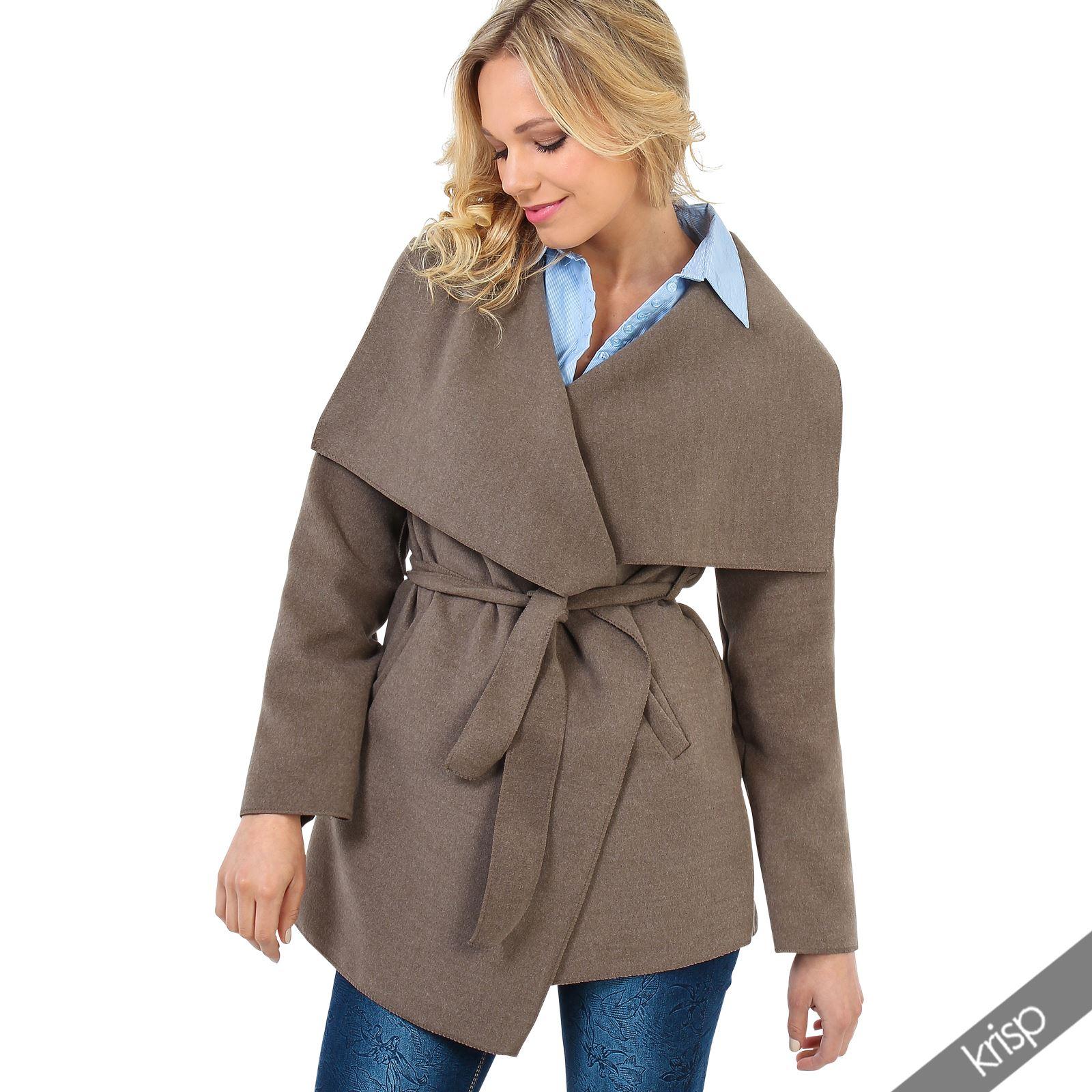 damen kurzer mantel fleece jacke cardigan cape