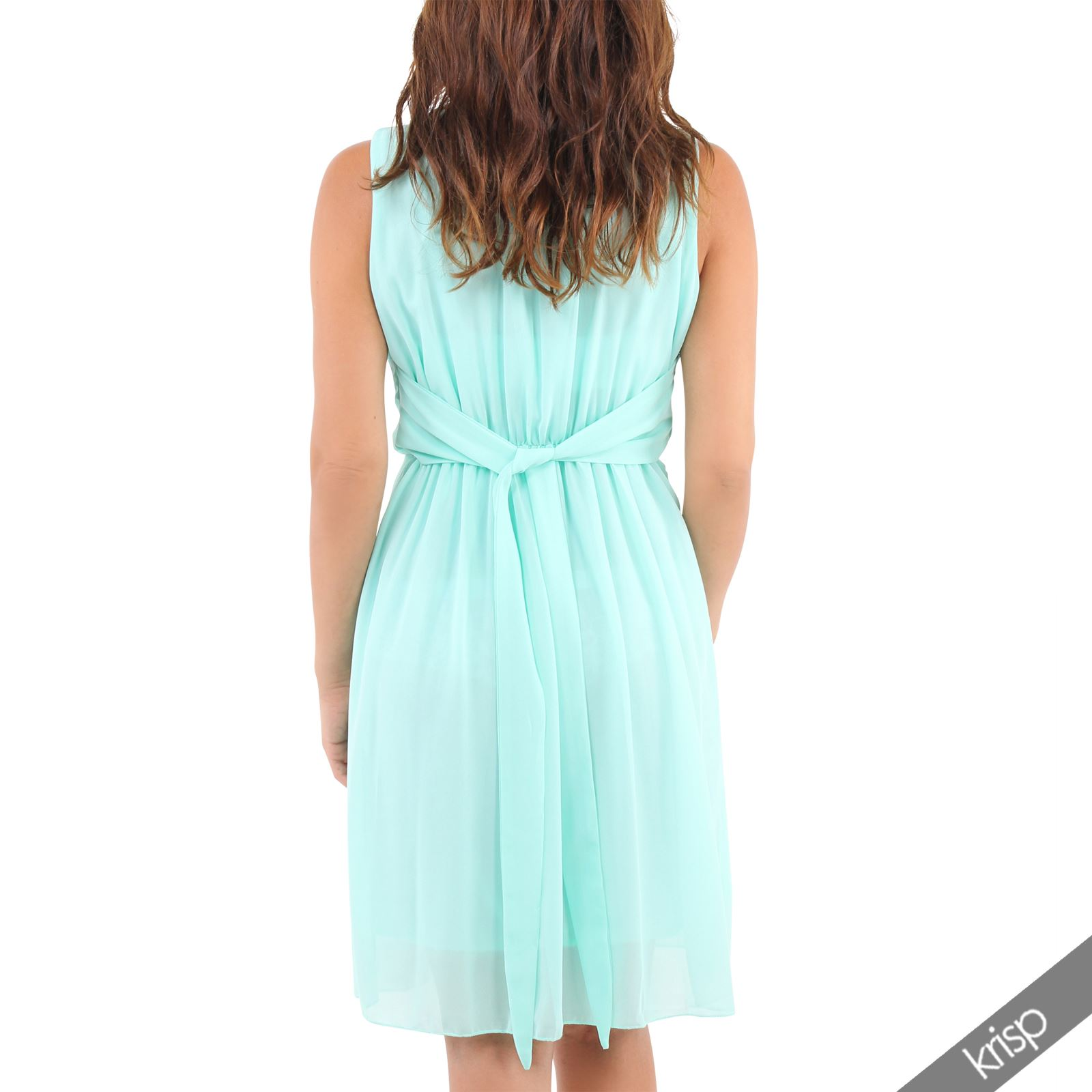 Summer Favourite Grecian Dresses: Womens Drape Pleated Chiffon Grecian Tunic Midi Dress