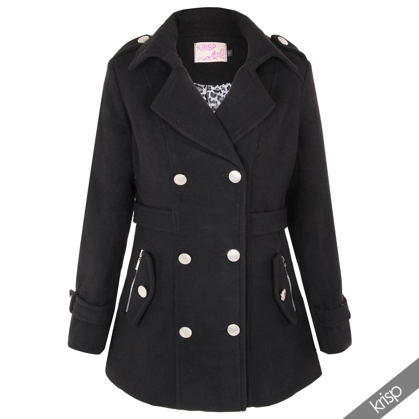 krisp damen mantel wollmantel zweireiher elegant jacke wolle umstandsmantel ebay. Black Bedroom Furniture Sets. Home Design Ideas