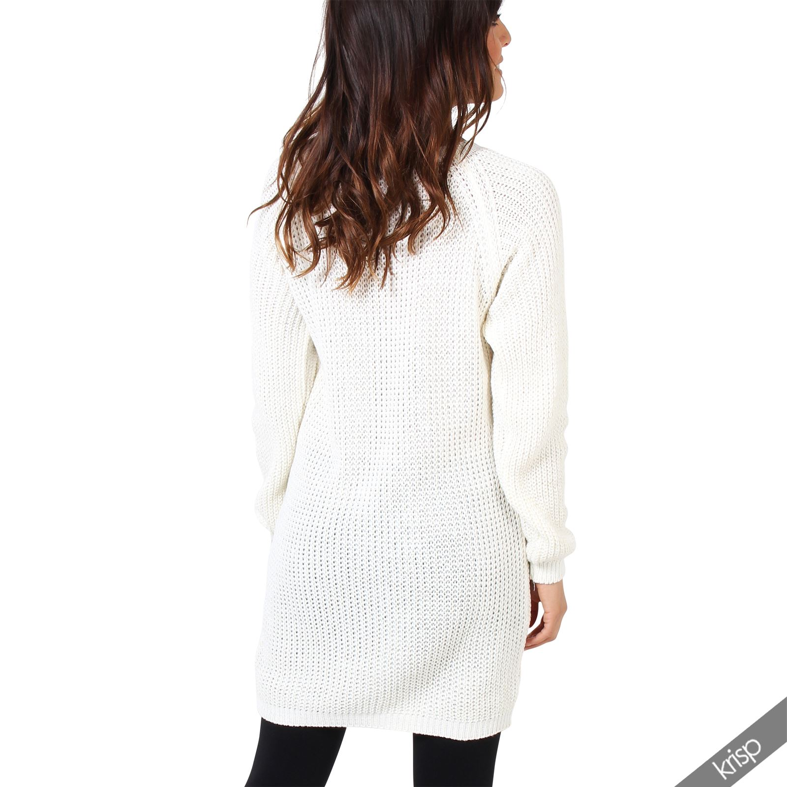 women lurex cable knit oversize boyfriend long sweater jumper dress pullover top ebay. Black Bedroom Furniture Sets. Home Design Ideas