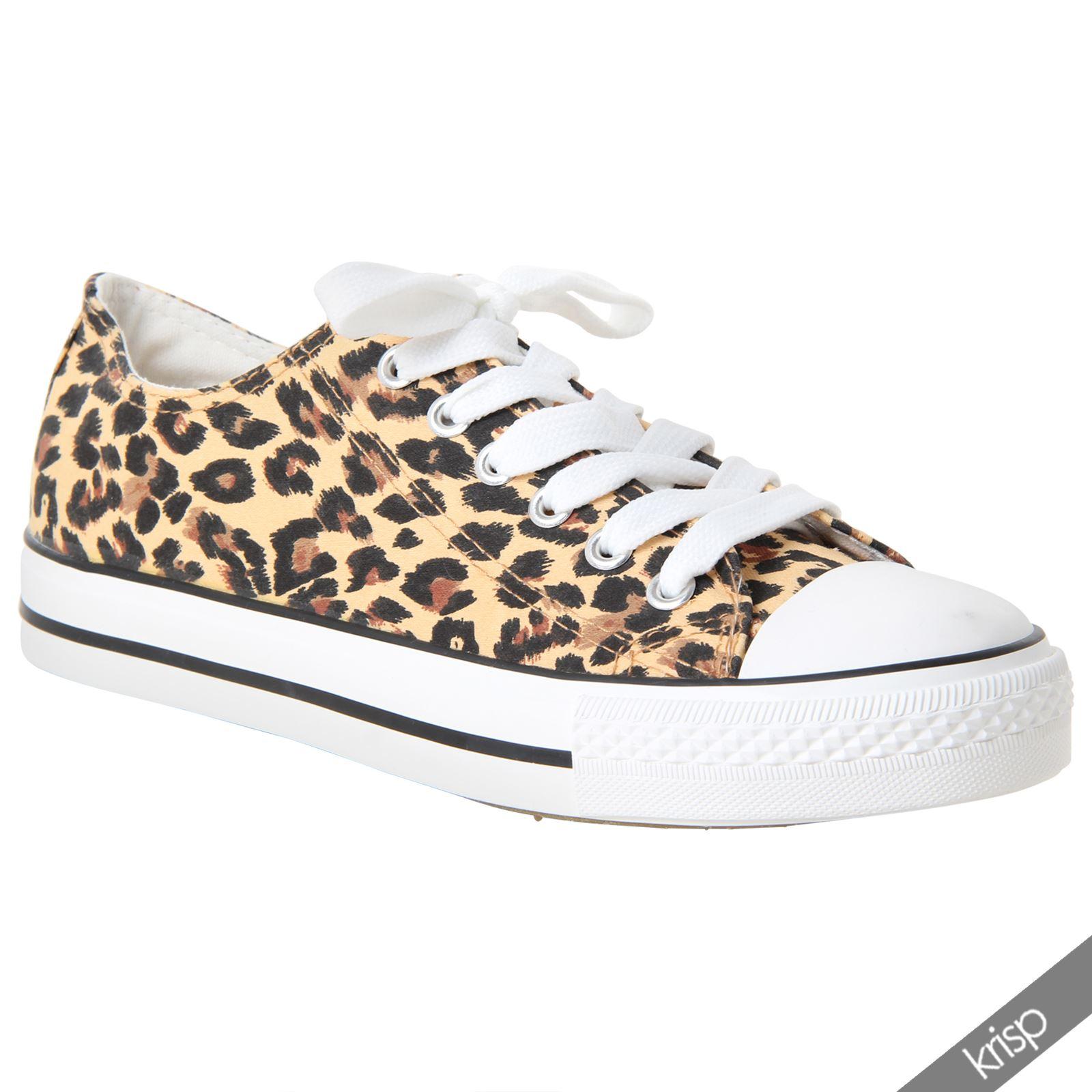 Womens Leopard Print Canvas Shoes