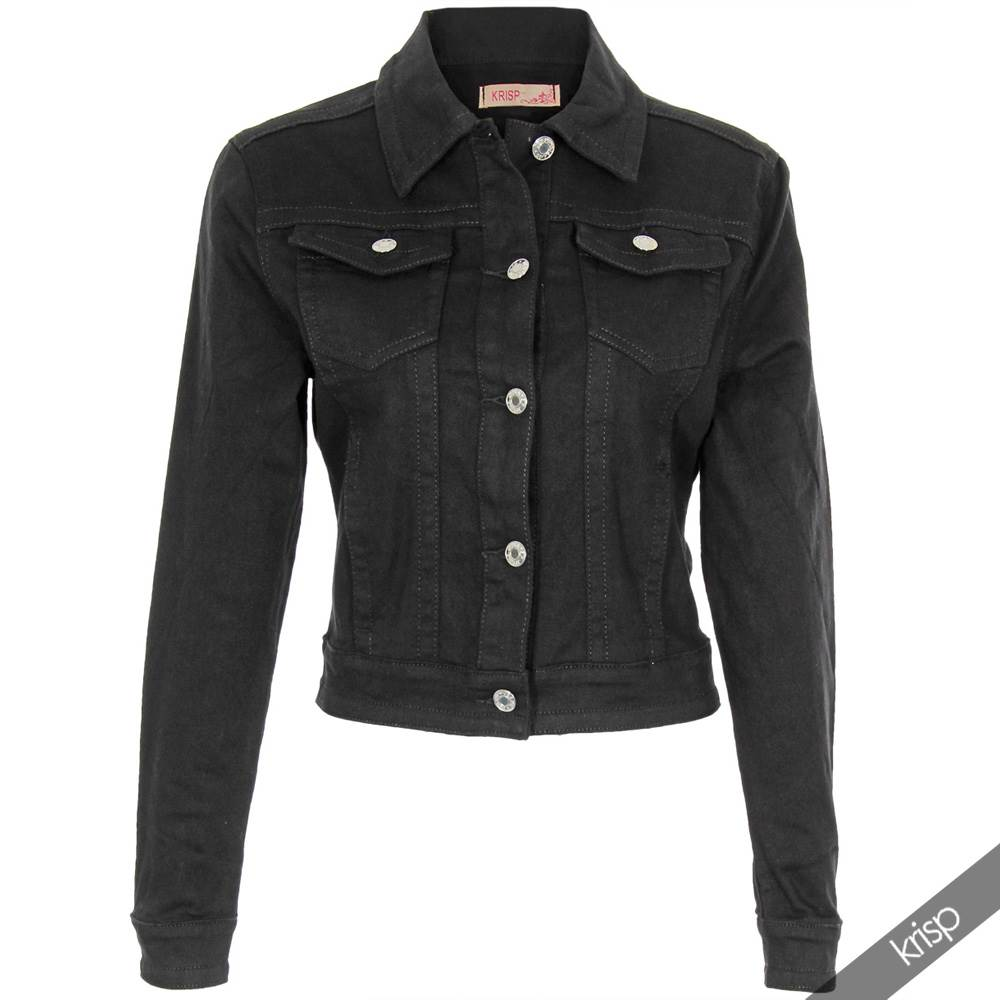 Women black denim jacket