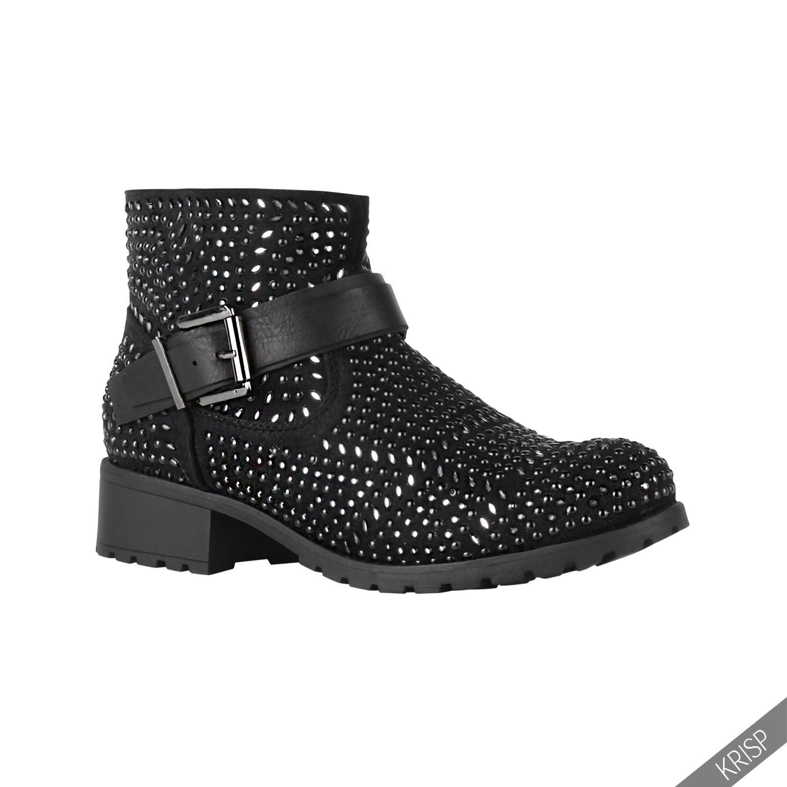 Luxury NEW ROCK Womens Leather BLACK Biker Boot Size 6M M373 Mid Calf | EBay