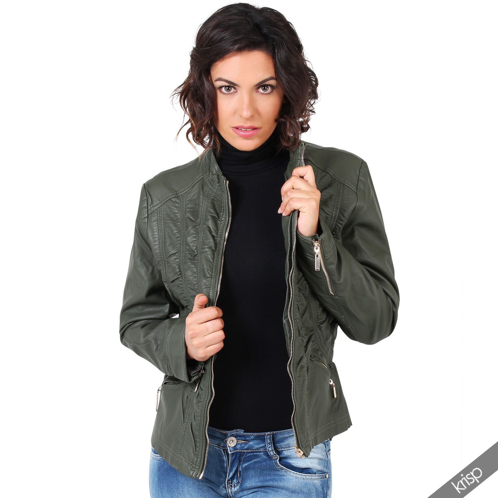 Leather jackets for plus size women