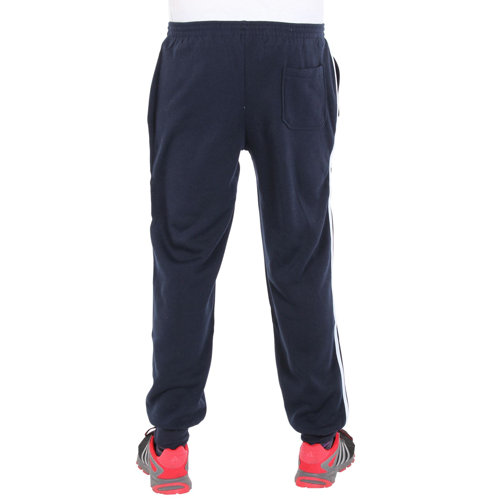 Pantalon jogging bas surv tement homme polaire ourlets bande lat rale sport ebay - Pantalon bande laterale homme ...