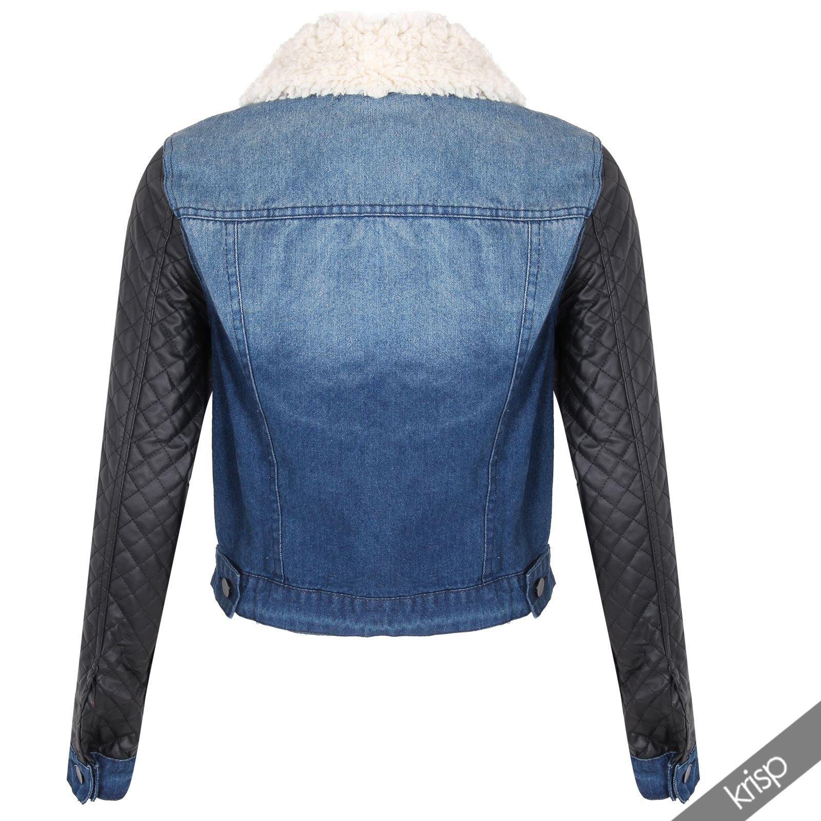 krisp ladies jeans jacket denim jeans jacket biker jacket. Black Bedroom Furniture Sets. Home Design Ideas