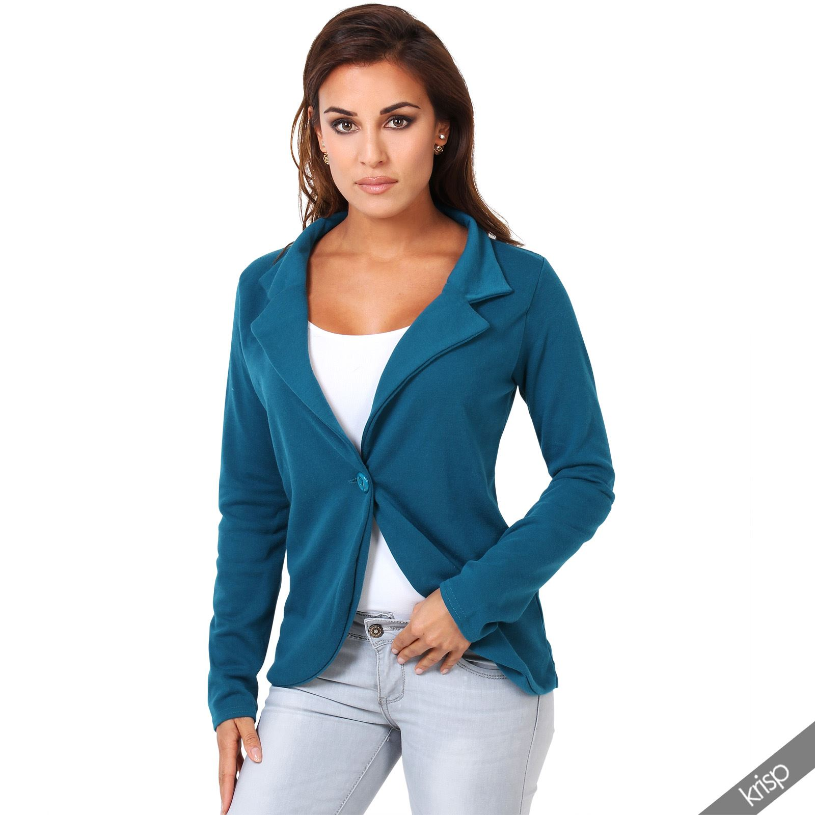 Womens Blazer Party Summer Jacket Button Front Tailored ...