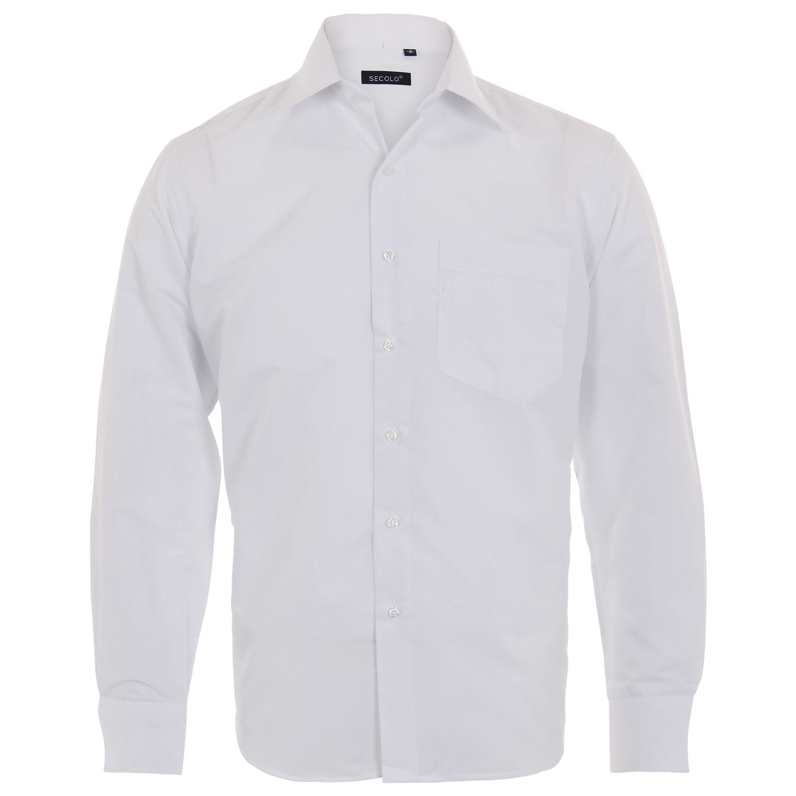 Men's Menswear Long Sleeve Smart Casual Plain Business Formal ...