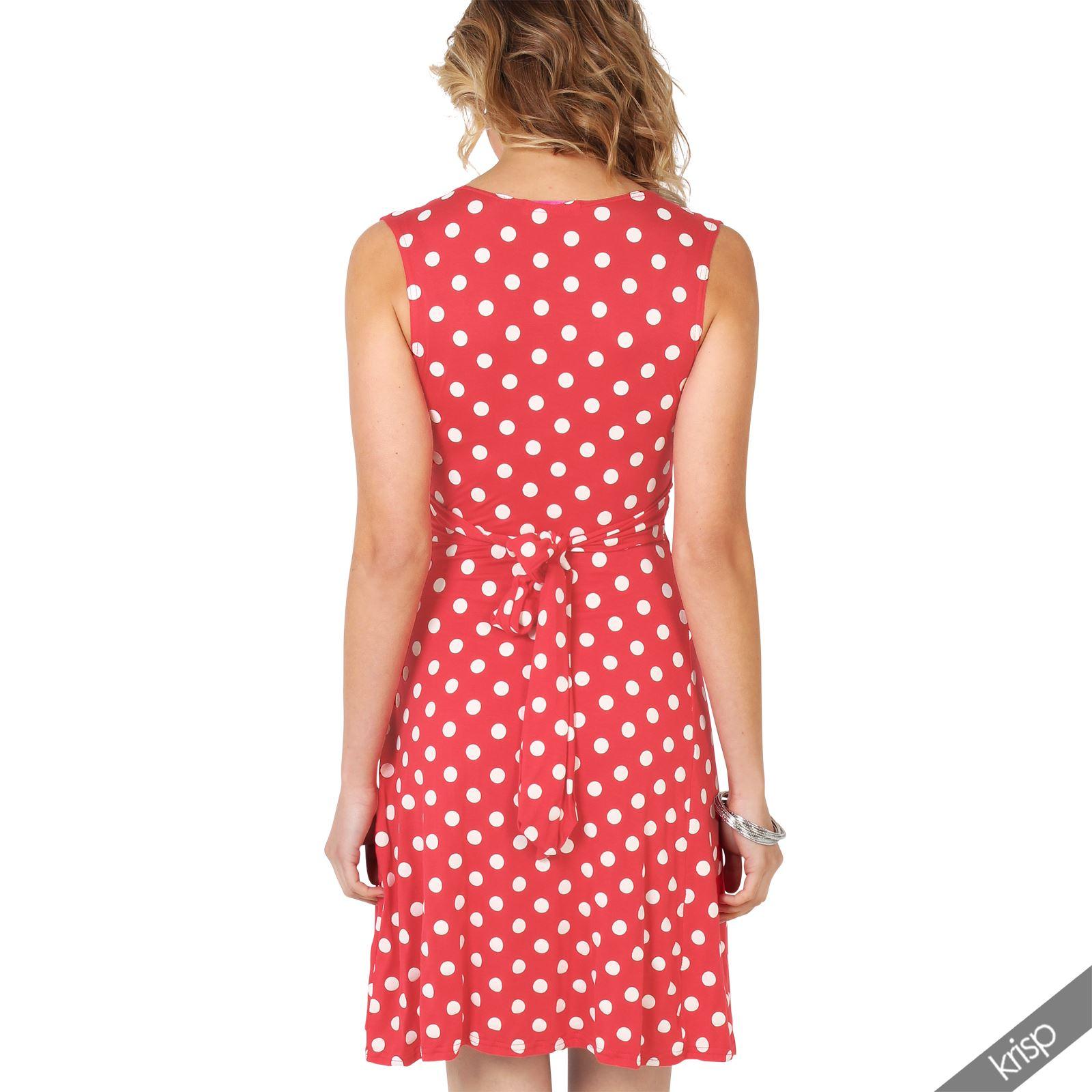 Damen Mini Kleid Mit Punkten Wickelkleid Sommerkleid V ...