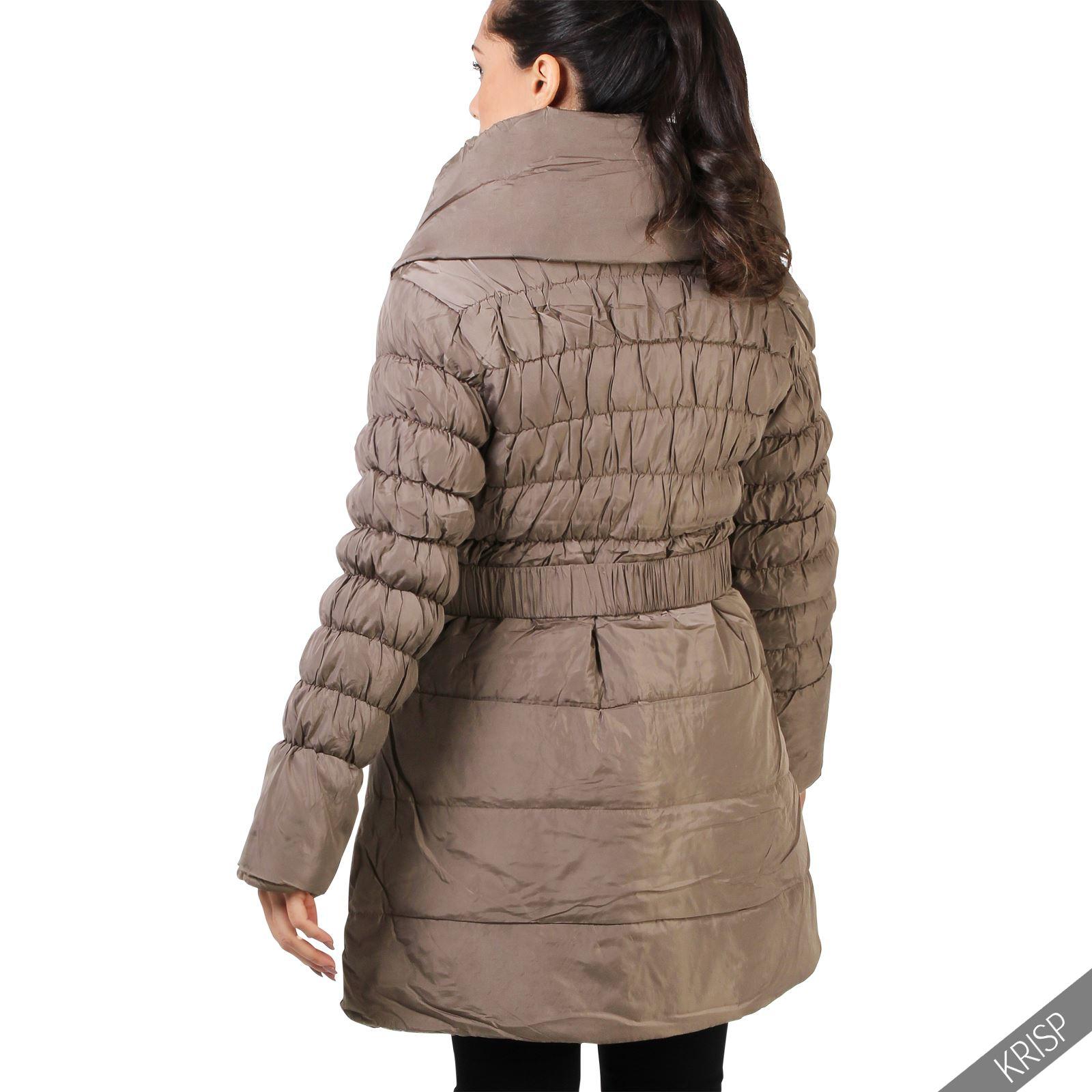 femmes manteau doudoune rembourr parka blouson chaude ceinture hiver longue ebay. Black Bedroom Furniture Sets. Home Design Ideas