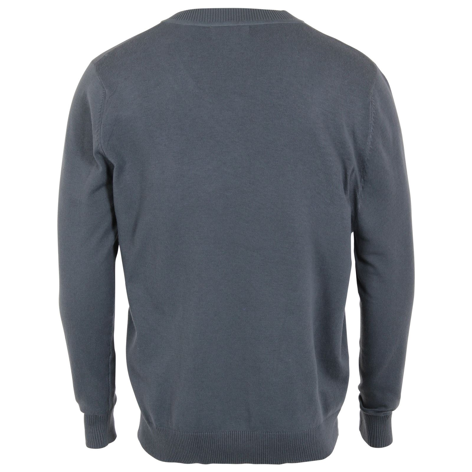 Mens Plain Colour Thin Knit Casual Crew Round Neck Jumper Sweater Pullover Top