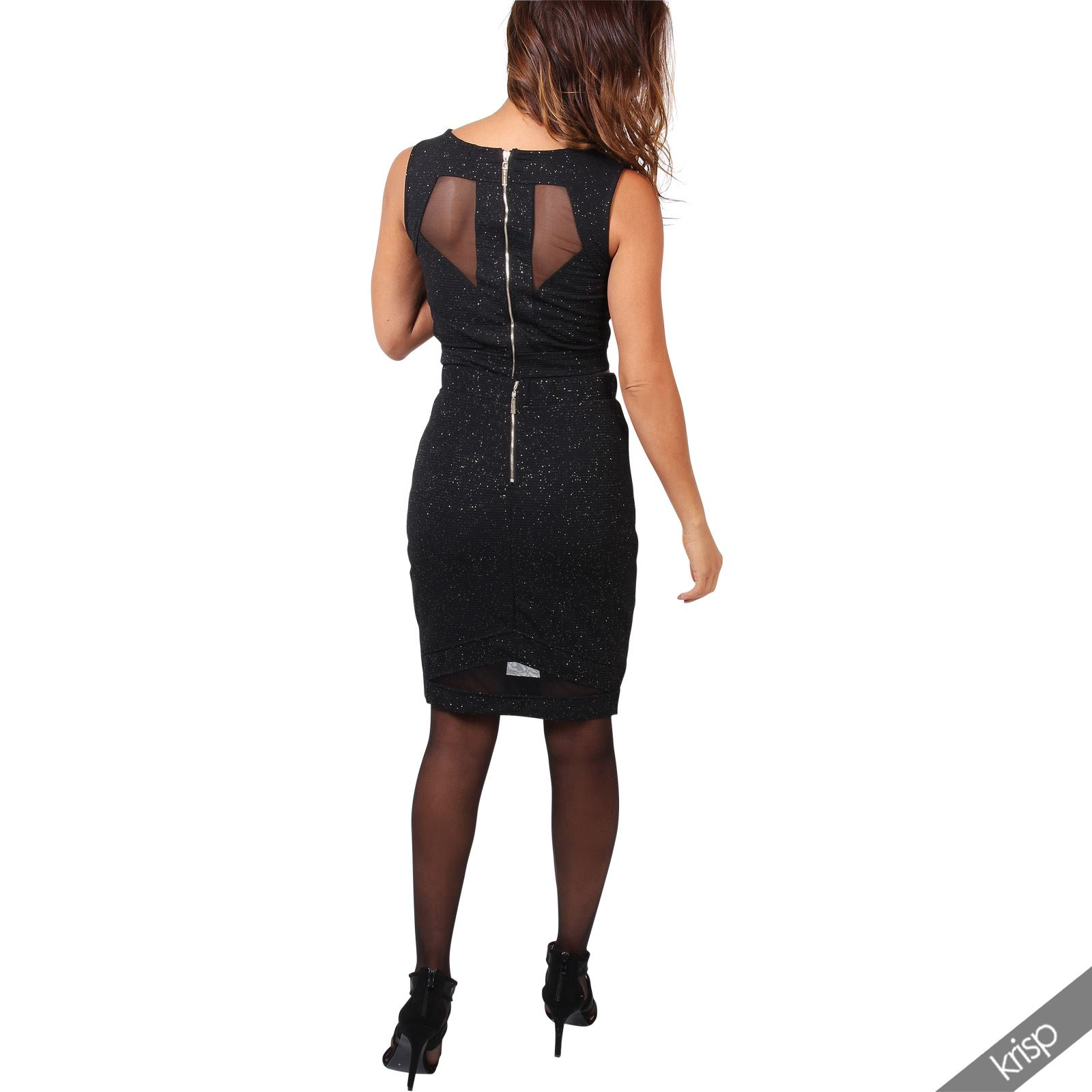 femme robe de soir e longue 2 pi ces haut jupe paillet e. Black Bedroom Furniture Sets. Home Design Ideas
