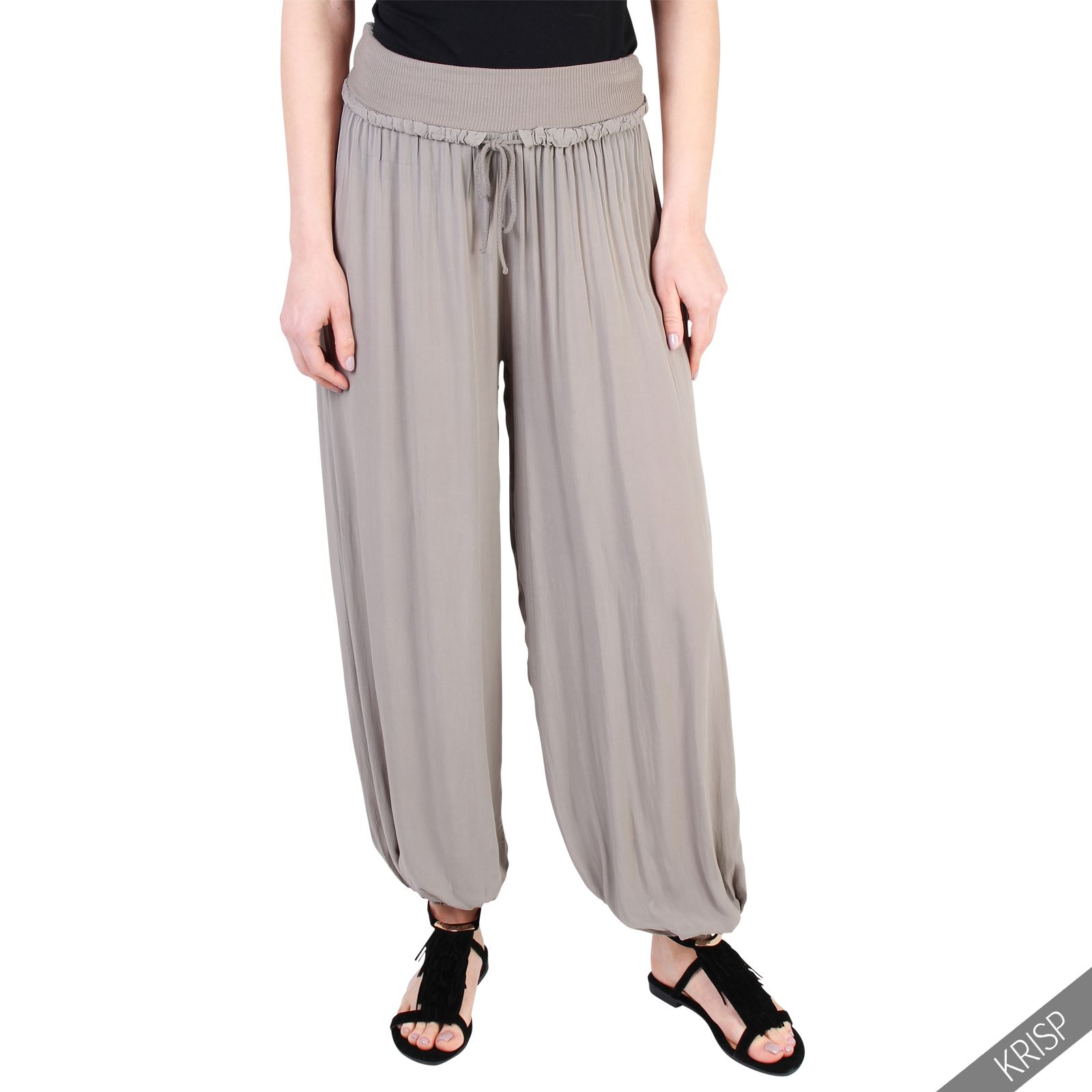 Plus Size Harem Pants. Stretchy Waist fits roughly 32