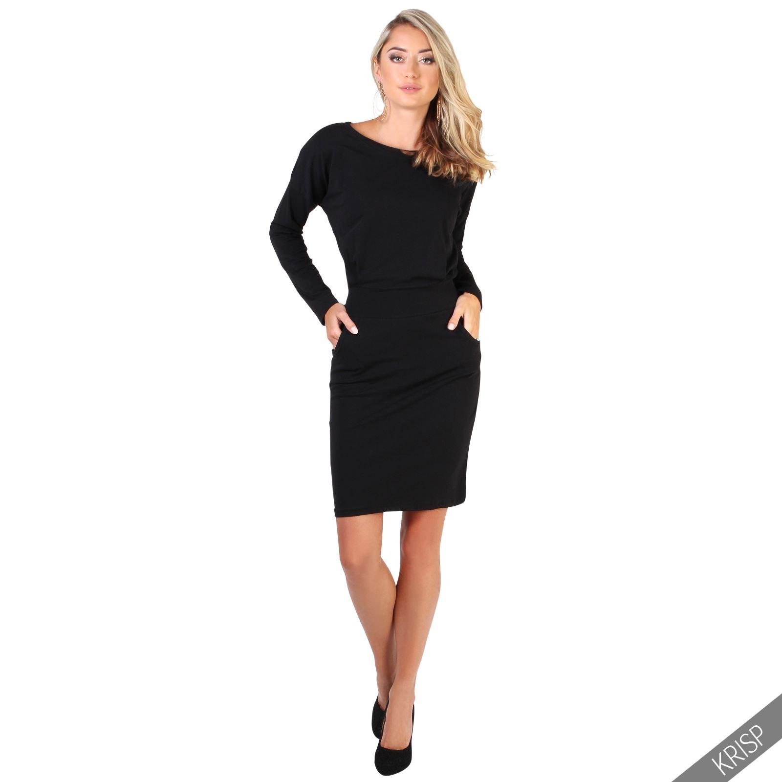 Lastest   WOMENS  KRISP  KRISP Sports Luxe Long Sleeve Jersey Dress