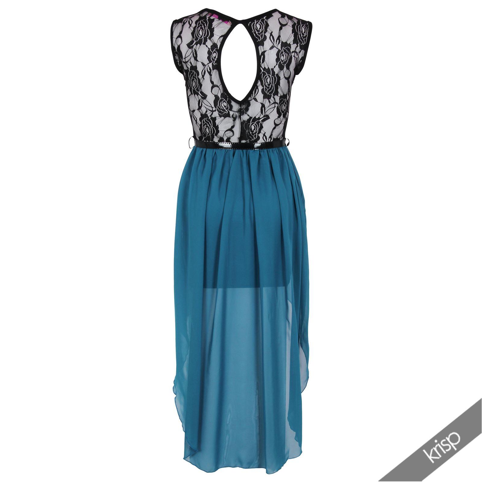 robe de bal asym trique ourlet plongeant femme gala voile. Black Bedroom Furniture Sets. Home Design Ideas