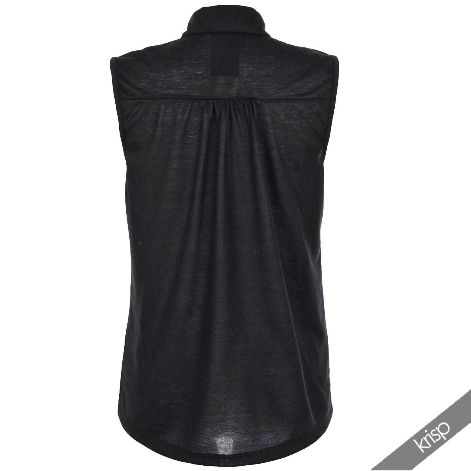 Ladies Women Studded Military Horse Print Shirt Vest Blouse Top Retro Vintage