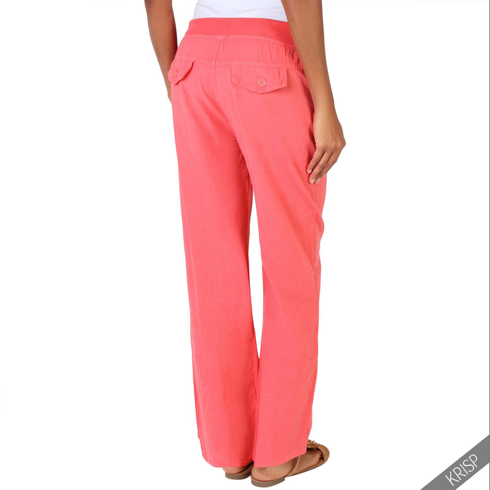 New SCUWLINEN 2019 Vintage Trousers For Women Casual Elastic Waist Long Linen Pants All Match Women ...