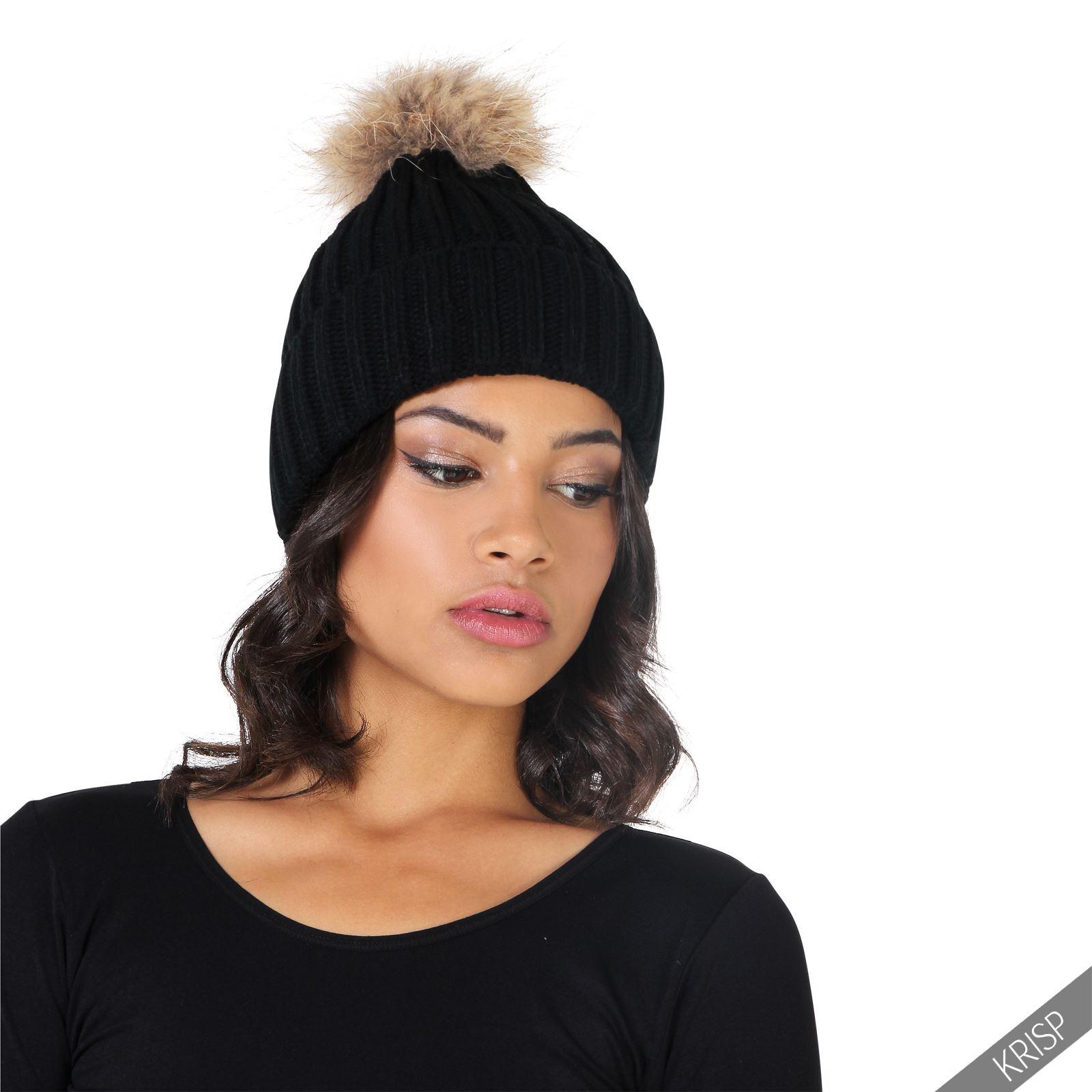 femmes bonnet pompom beret chapeau pompom ski chaud noel. Black Bedroom Furniture Sets. Home Design Ideas