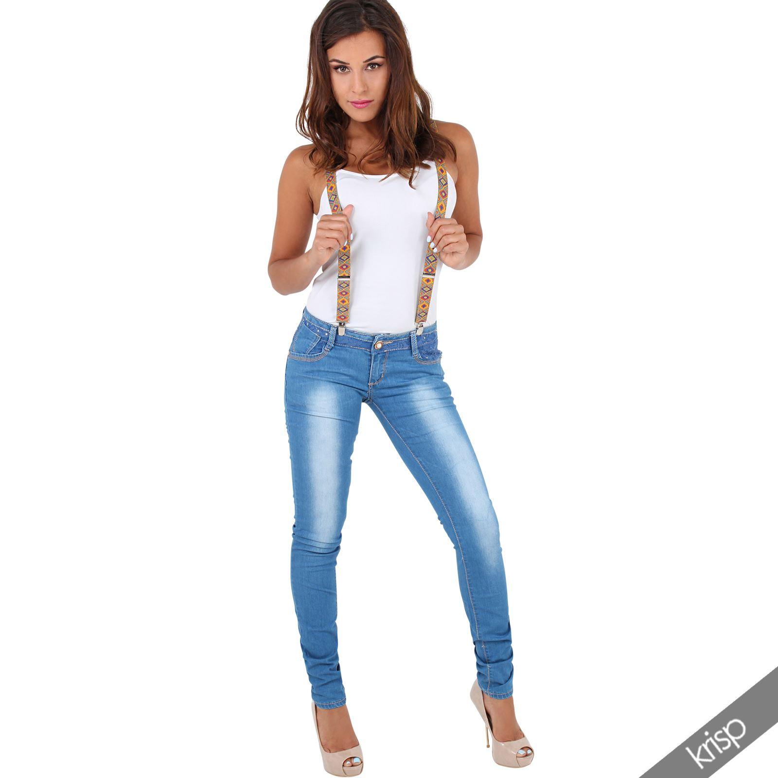 Women light wash denim stretch skinny slim fit jeans lace for Ladies light denim shirt