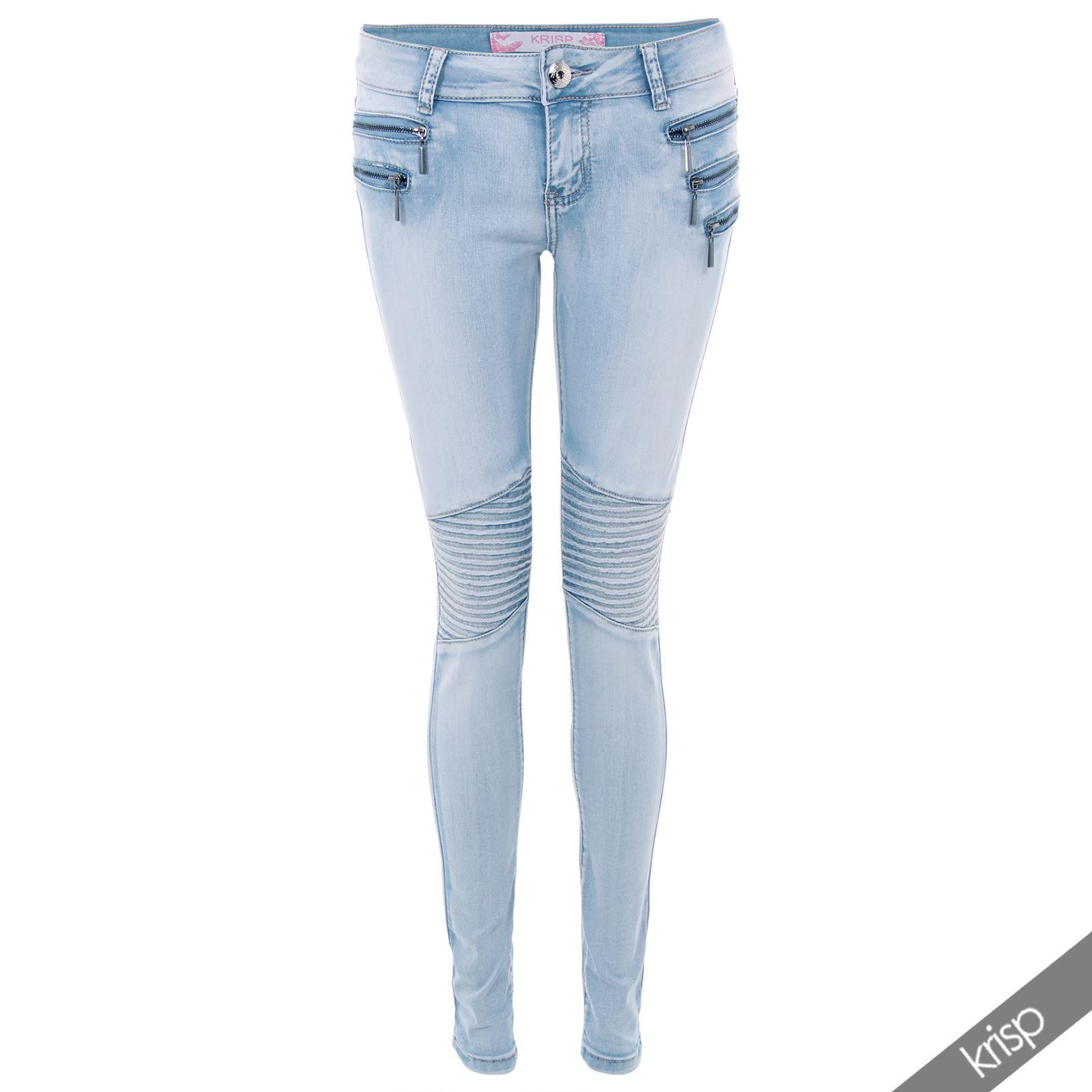 damen skinny jeans reisverschlusse steppnahte stretch denim leggings. Black Bedroom Furniture Sets. Home Design Ideas