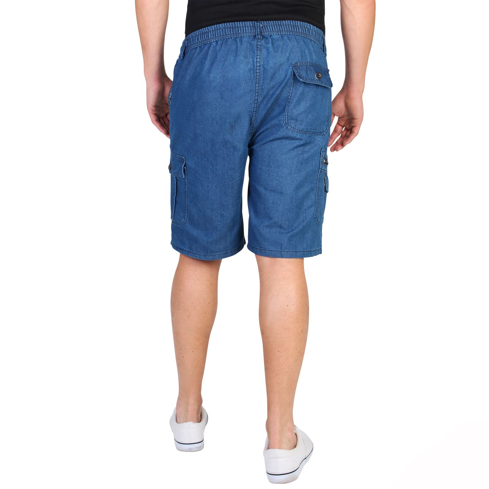krisp pantalon homme court jean en coton style cargo classiques casual short ebay. Black Bedroom Furniture Sets. Home Design Ideas