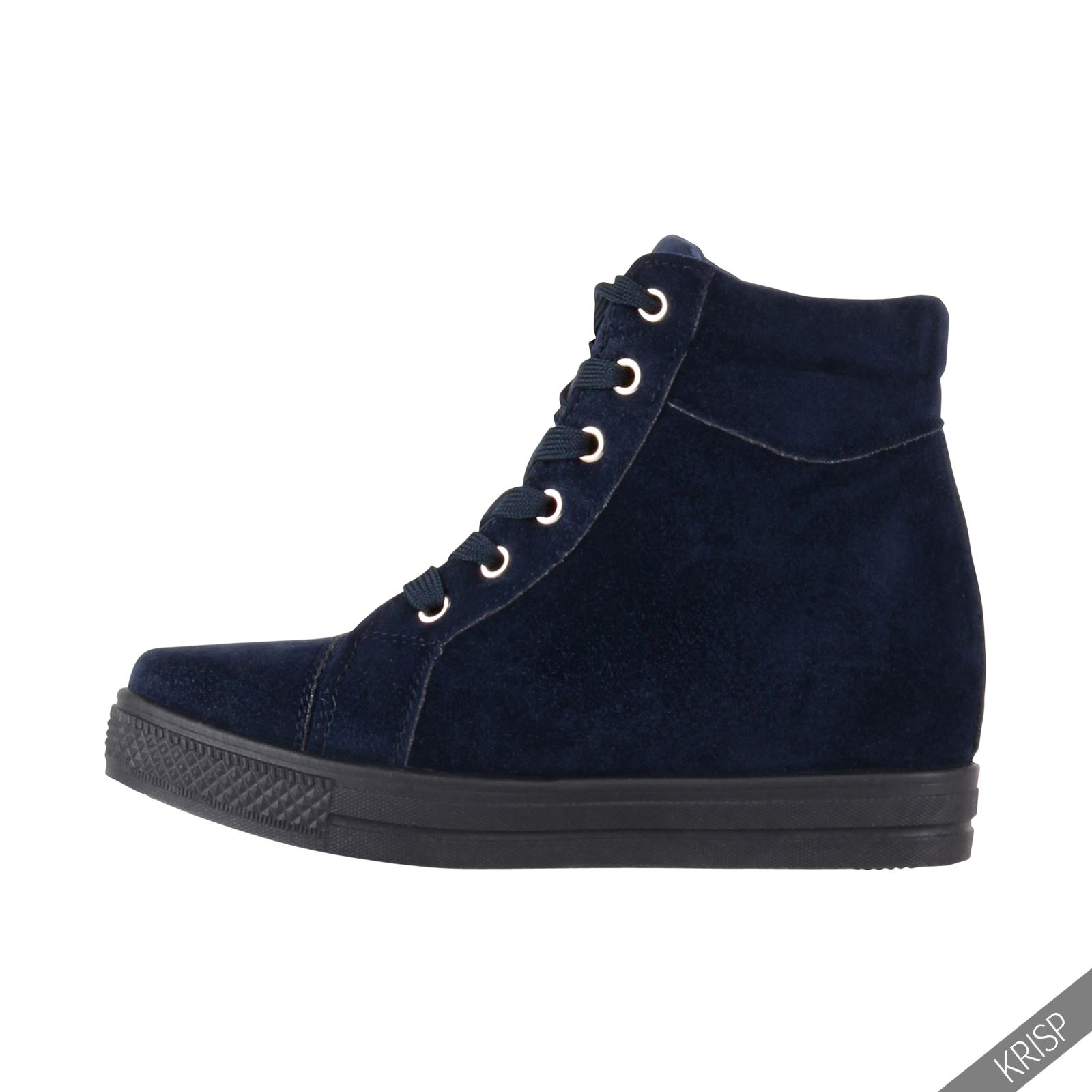 Black Casual Wedge Shoes Trainers